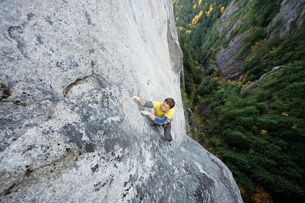 John Furneaux climbing in Squamish (Photo:Paul Bride)