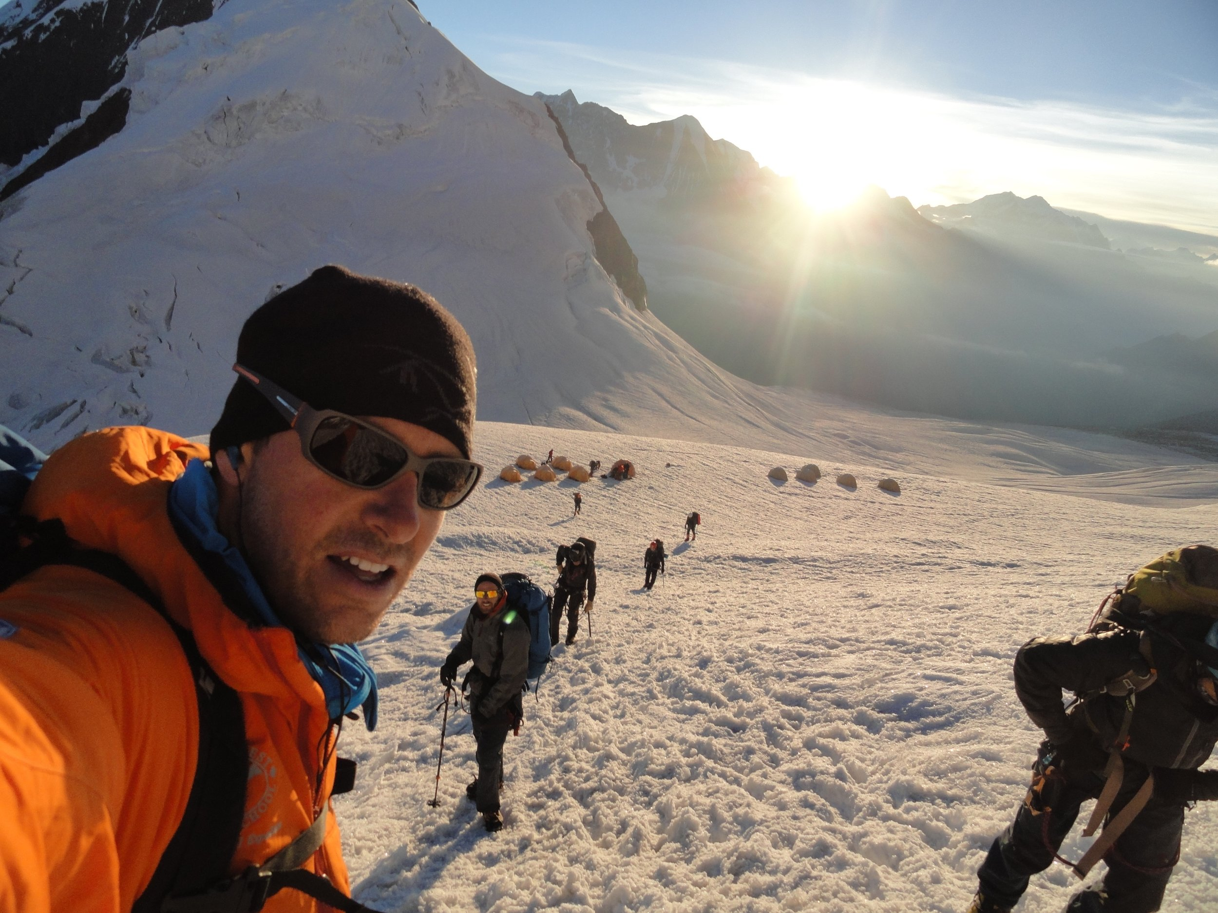 Leaving Camp 1 on Manaslu - Nepal
