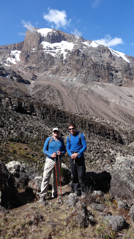John and Alfred below the South Face of Kili