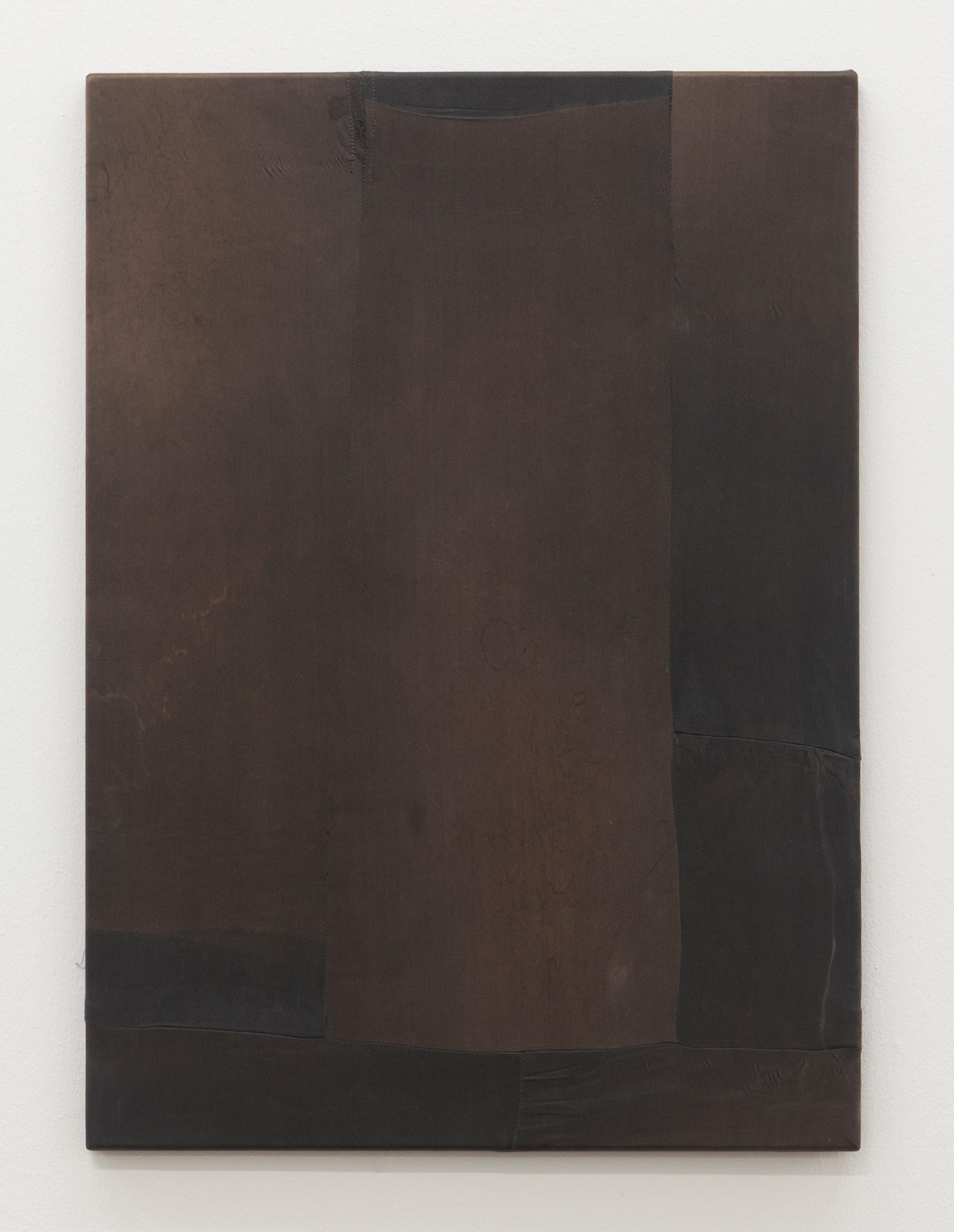MTWTFSS12WEEKDAY (2012-2014) Artist's silk pants on stretcher (front) 88,5 x 72,5 cm