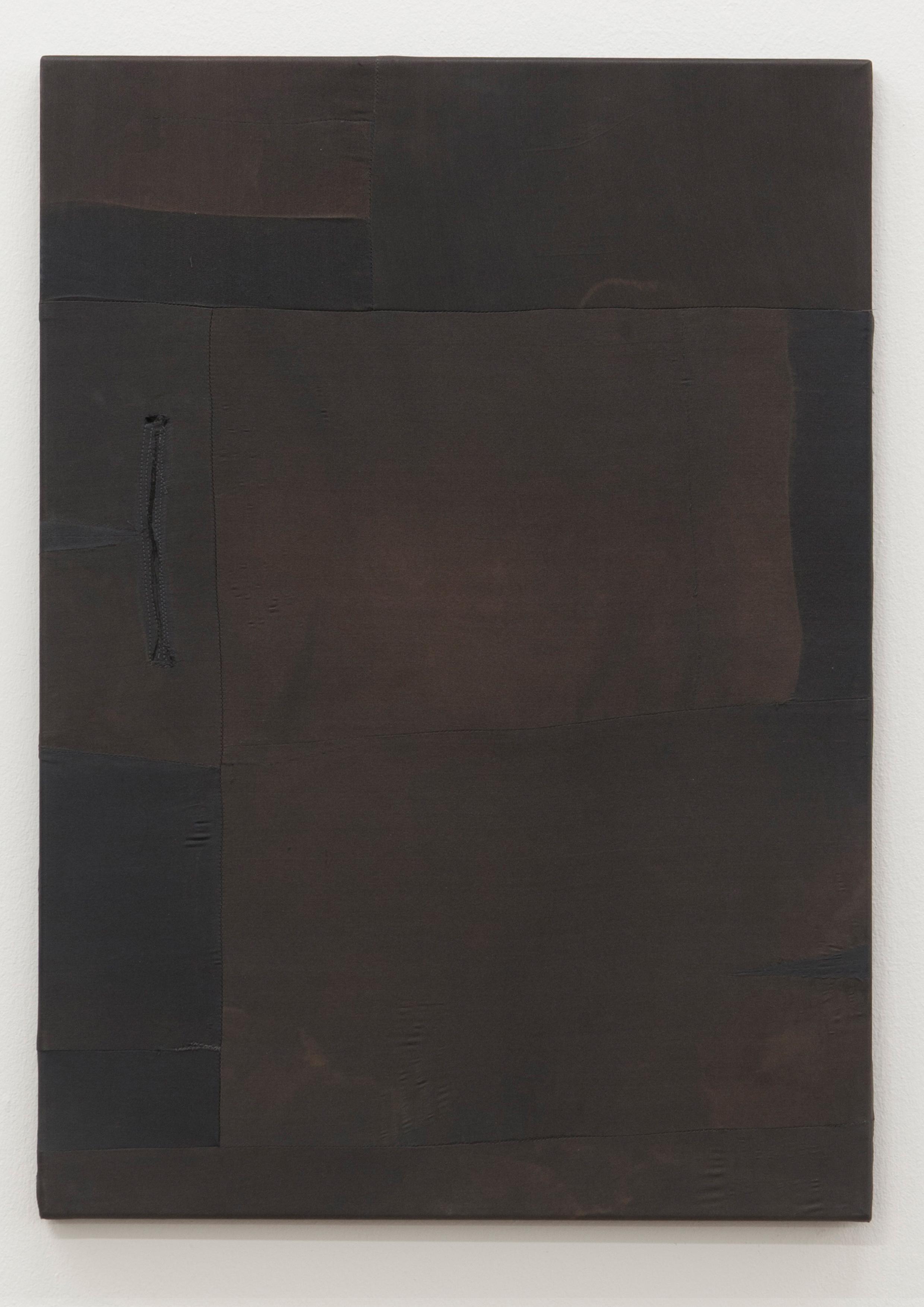 MTWTFSS12WEEKDAY (2012-2014) Artist's silk pants on stretcher (back) 88,5 x 72,5 cm