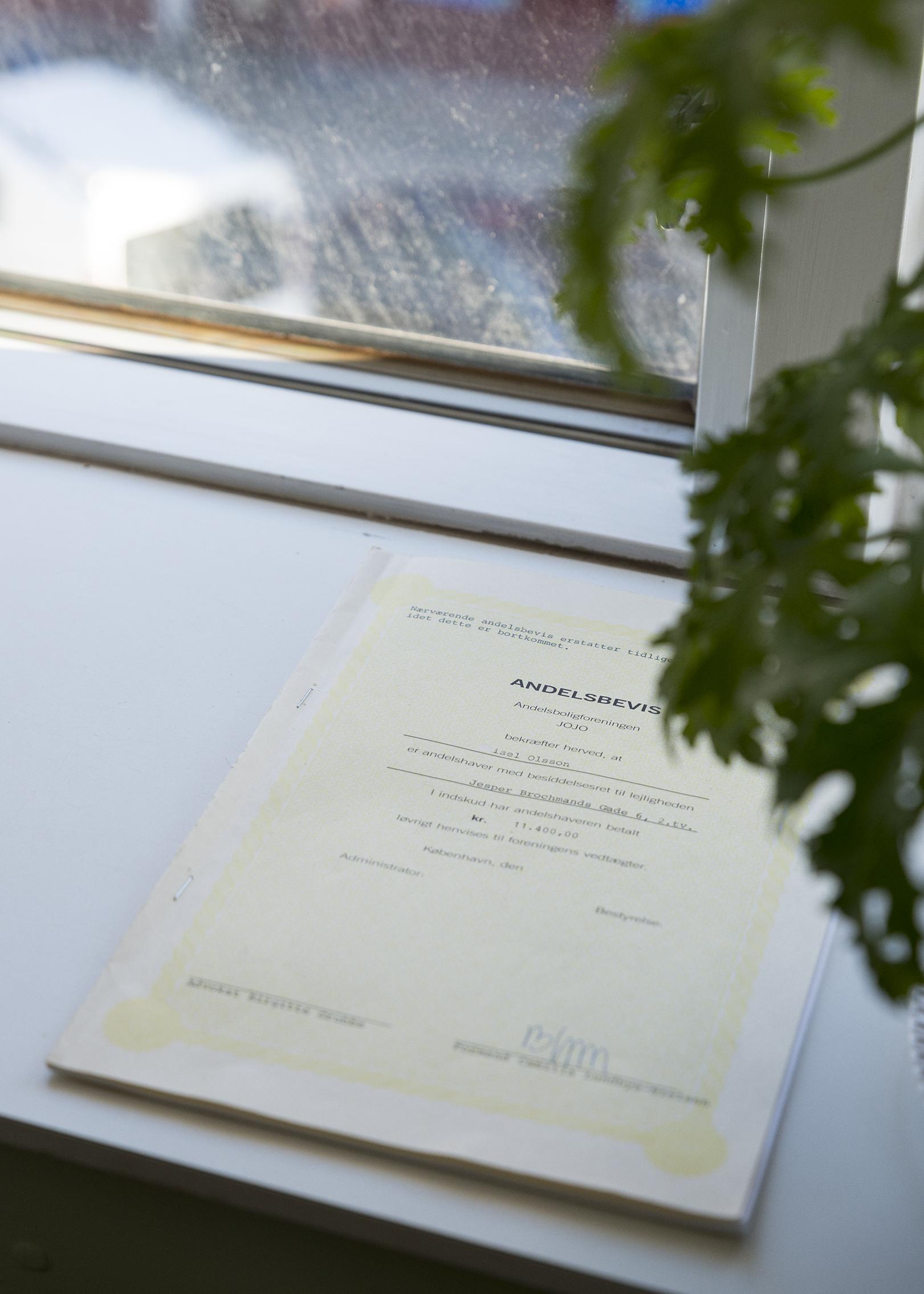 Andelsbevis (tenant contract) (2017)Moa Alskog