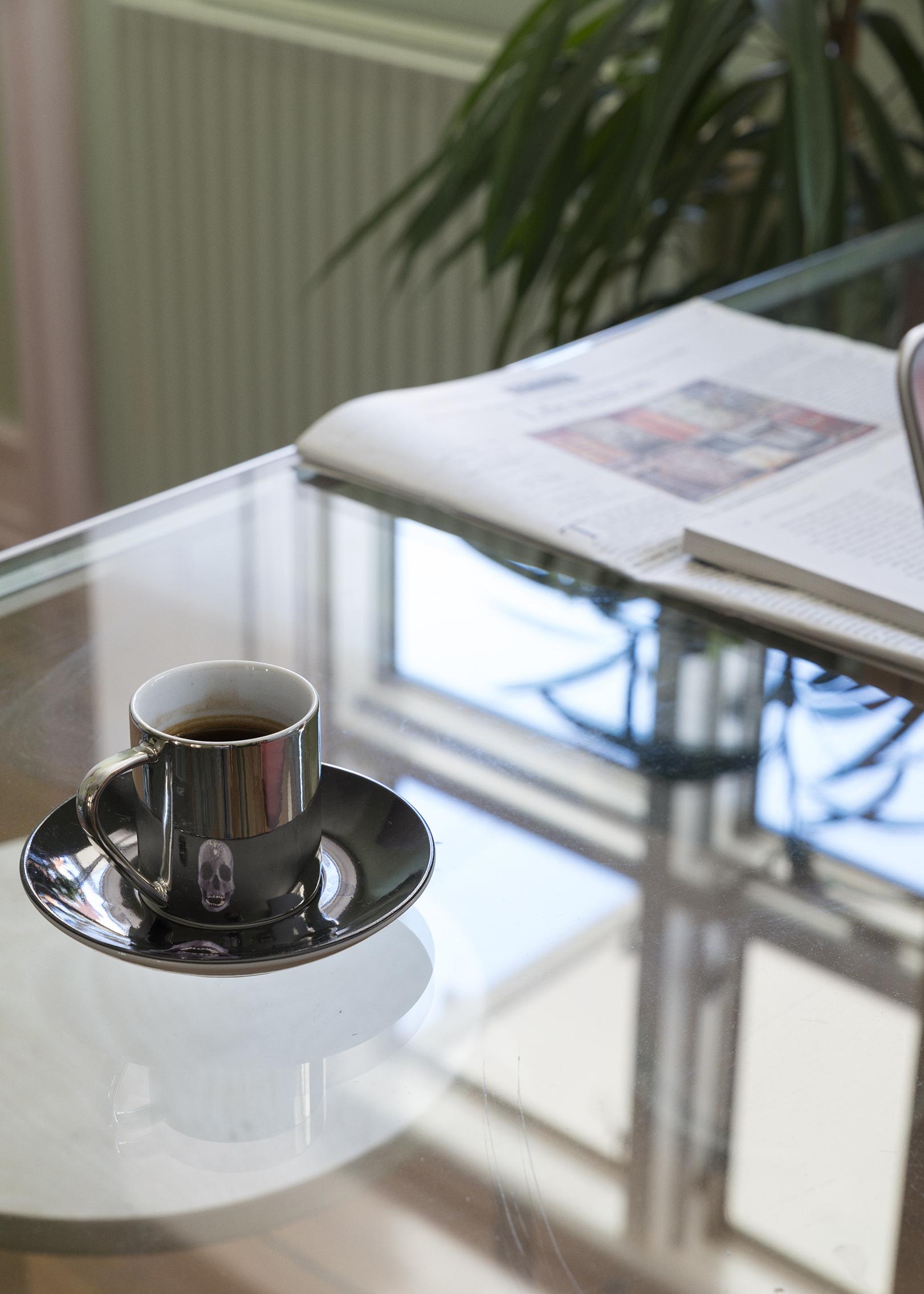 Memento Mori espresso cup, Damien Hirst studio,2013