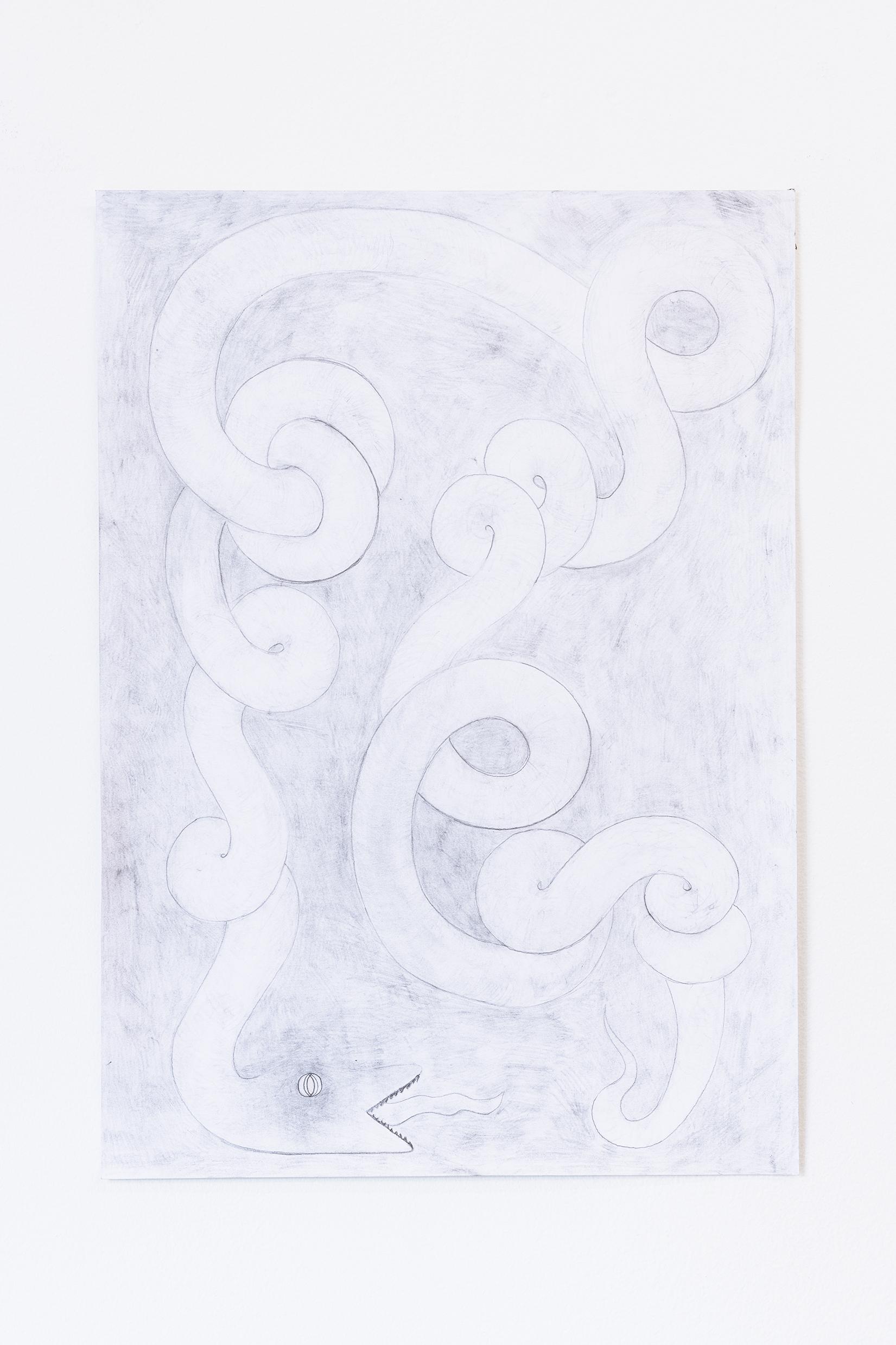 ORMORMORM (2019), blyerts på papper, 29,7x42cm, Moa Alskog