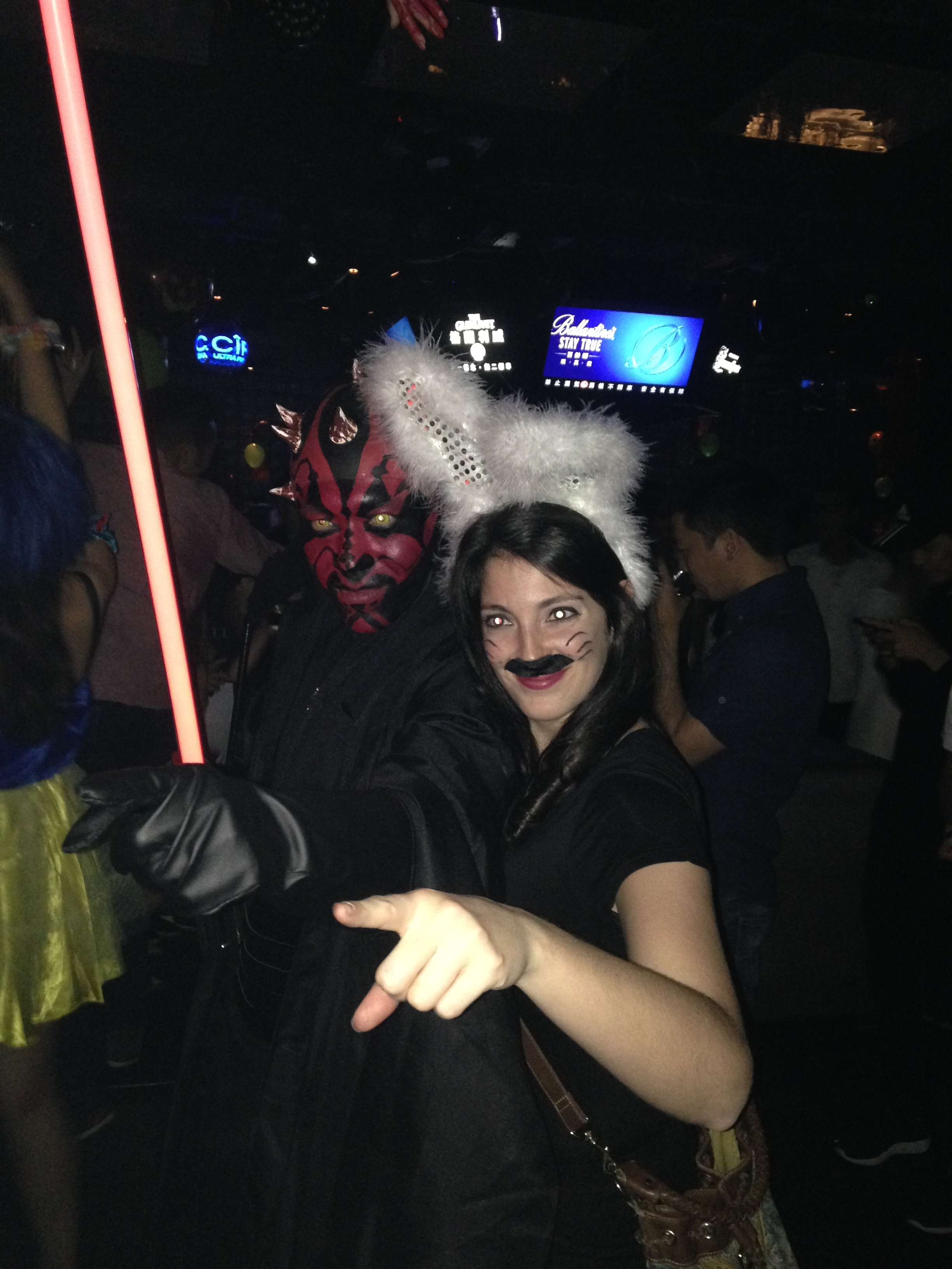 Darth Maul and I. ...I was a rabbit and I'm still unsure to this day about where I got that mustache
