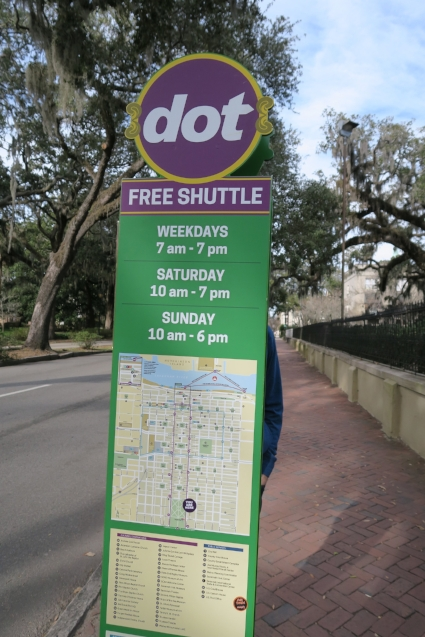 """The """"Dot"""" schedule with the map of the Historical District"""