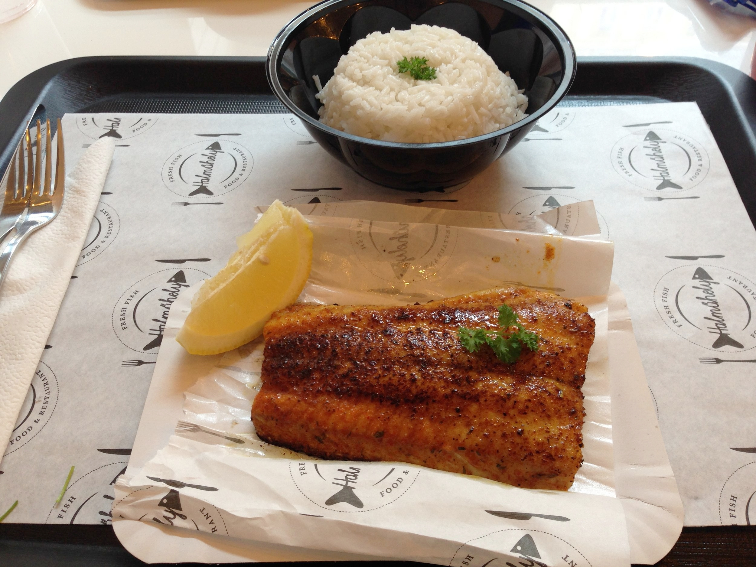 Some killer grilled catfish and rice!