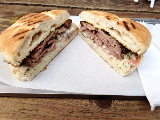 I don't care for roast beef, but this sandwich changed my mind— and life!!