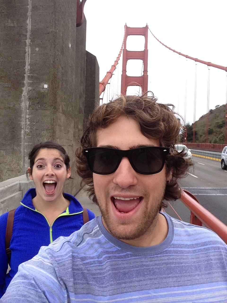 My ex and I on the Golden Gate Bridge