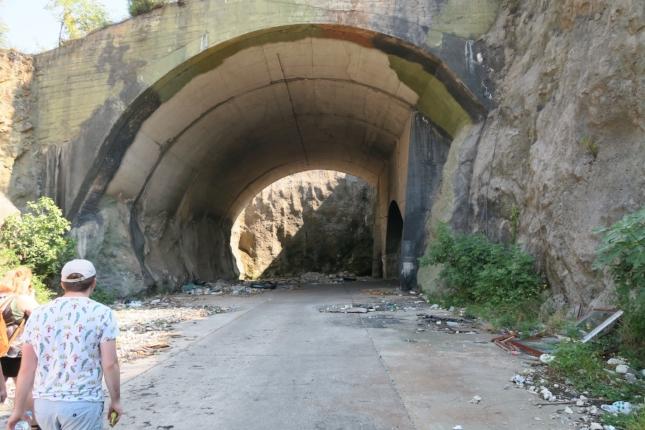 Abandoned secret Yugoslavian bunker in Mostar, Bosnia and Herzegovina