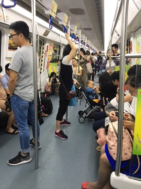 The metro (subway) in Shenzhen, China