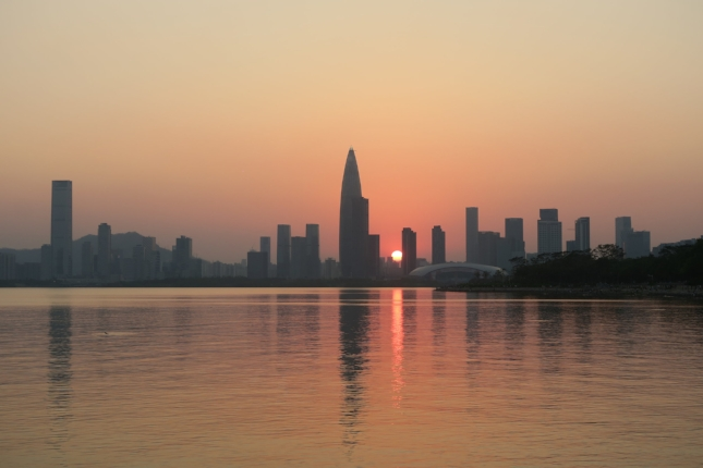 Sunset in Shenzhen, China