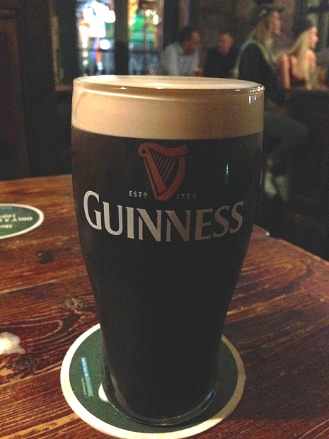 Yet another Guinness. Isn't it beautiful?