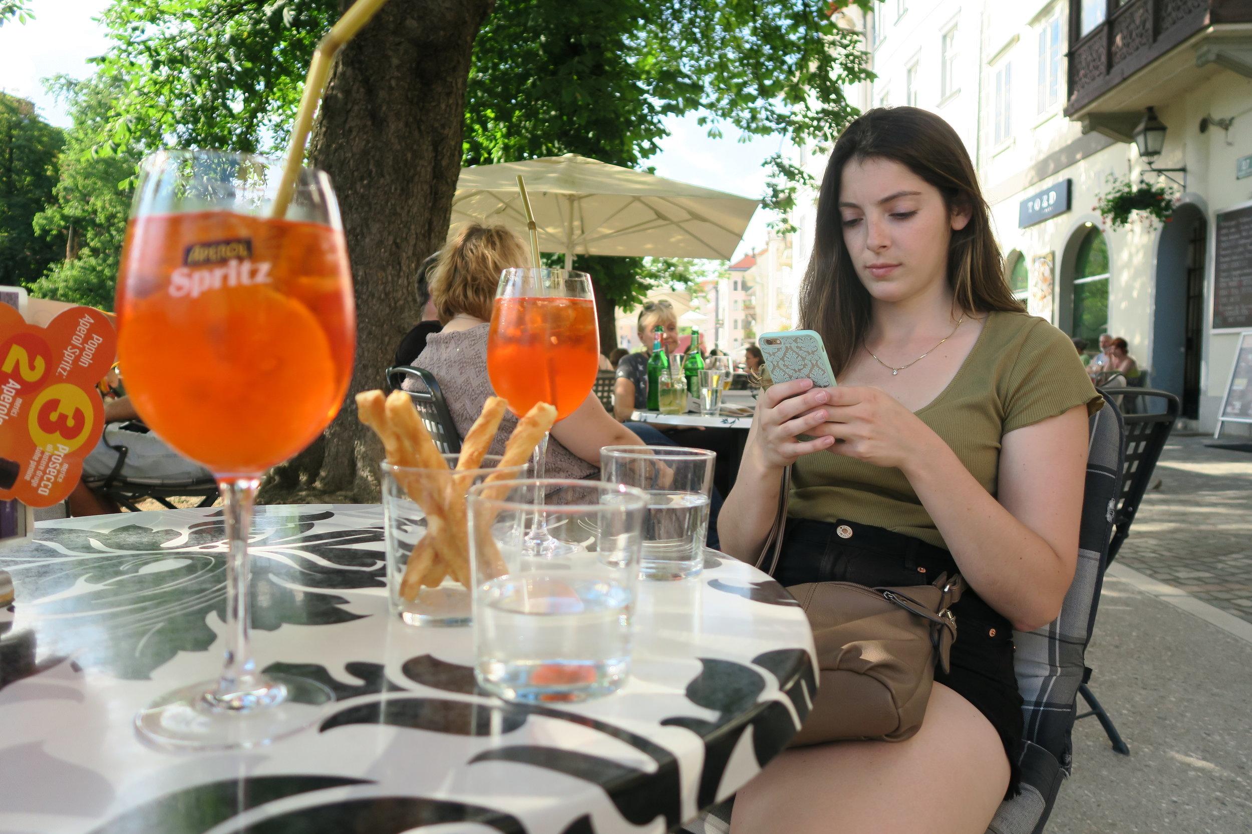 Aperol Spritz in Ljubljana