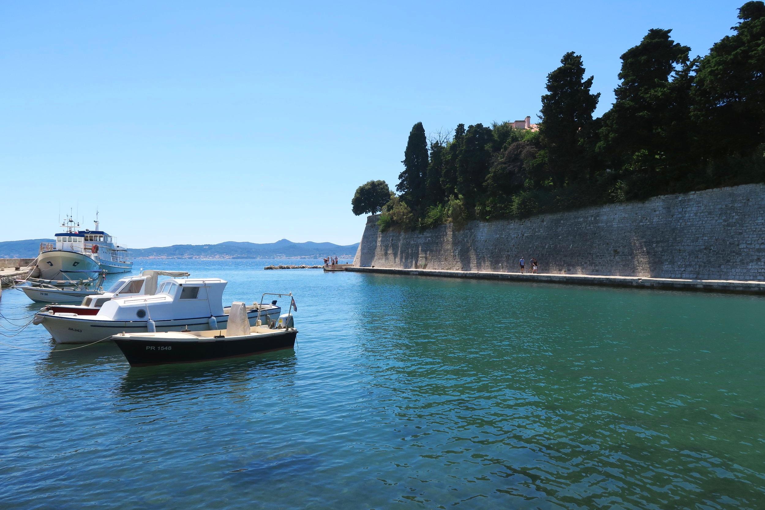 The city walls of Zadar, Croatia
