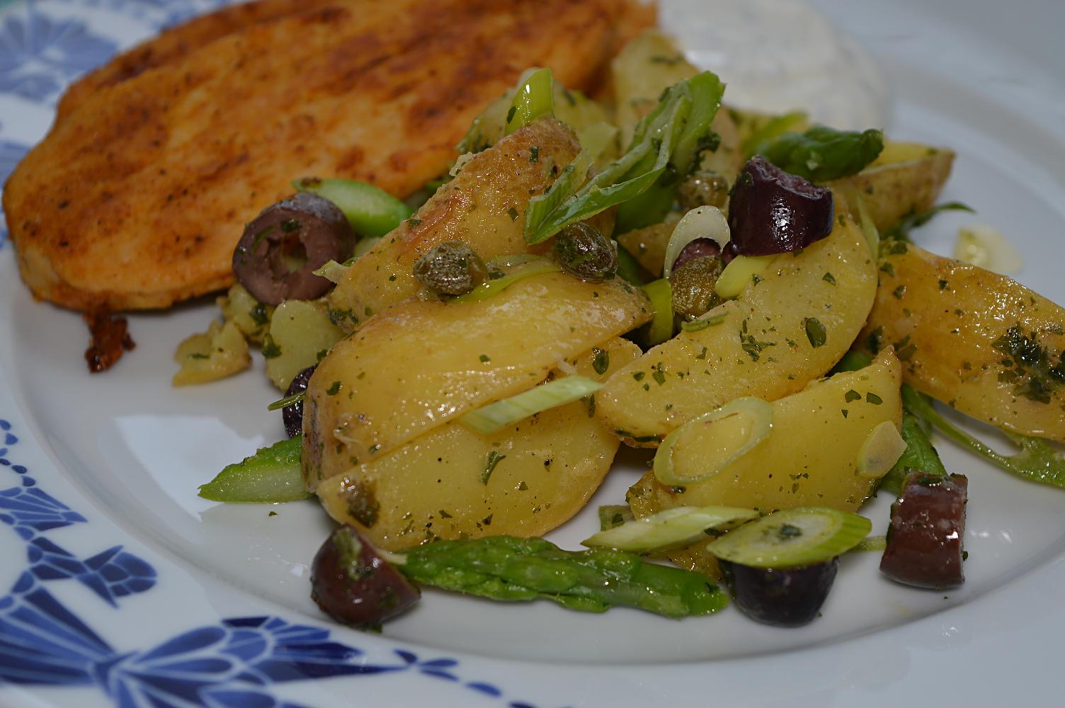 Rostad potatissallad som tillbehör