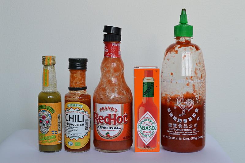 Hot sauces i pajsköket.