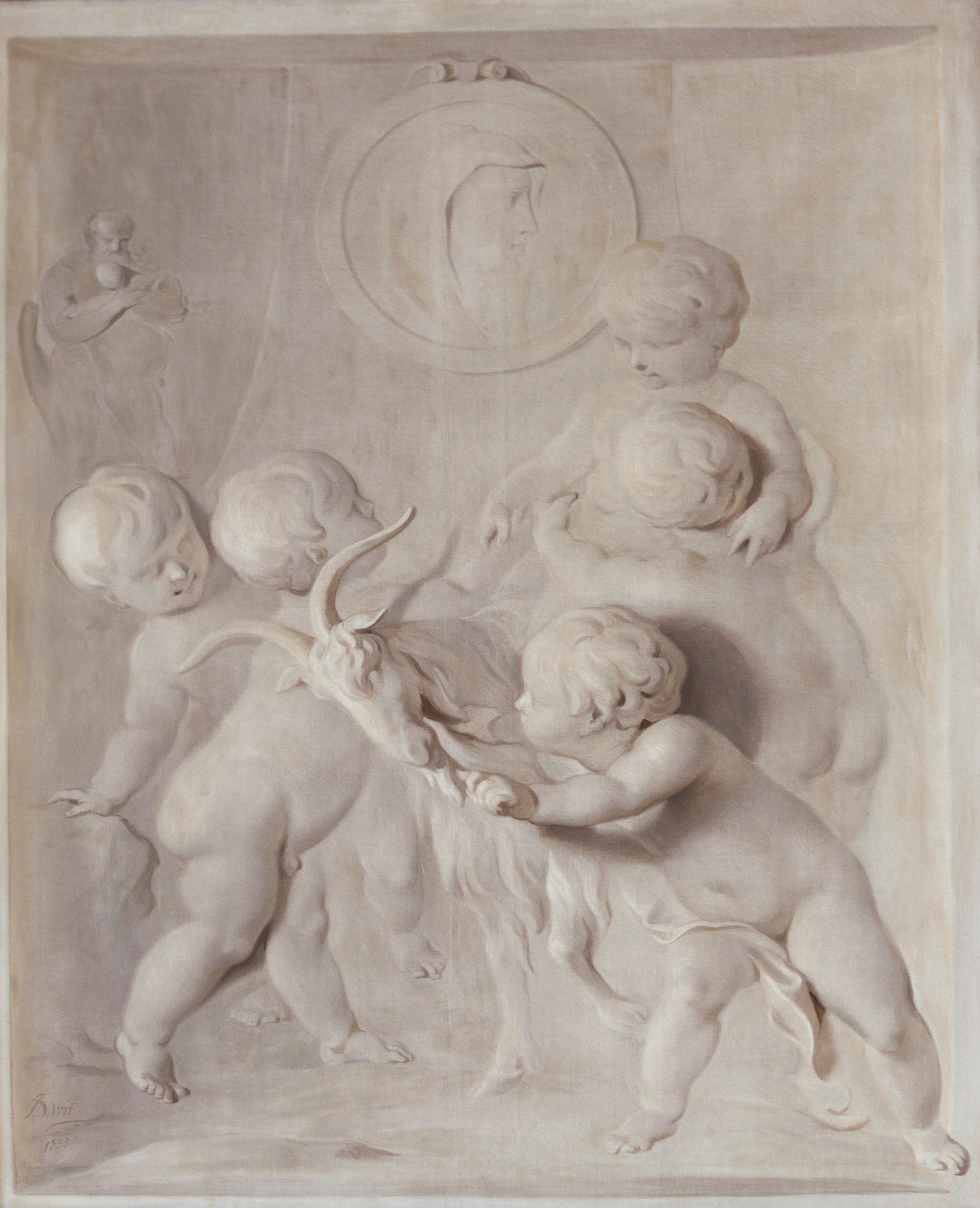 Witje 'De jeugd van Bacchus', olieverf op doek,  Jacob de Wit 1735 Foto: Martijn Gijsbertsen