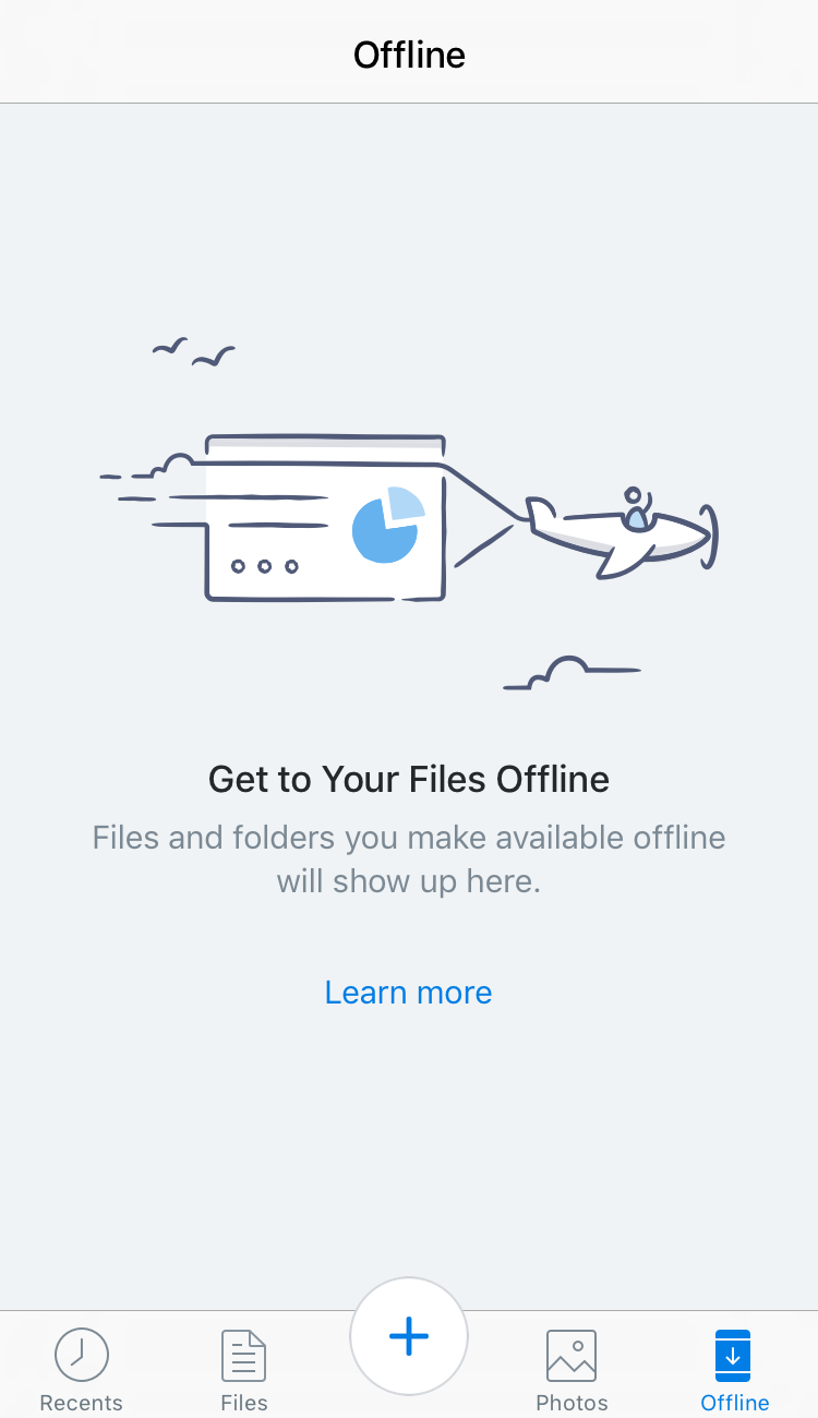 Can download files to view offline. Be careful as files add up and you might need some room for all the great pictures you will take.
