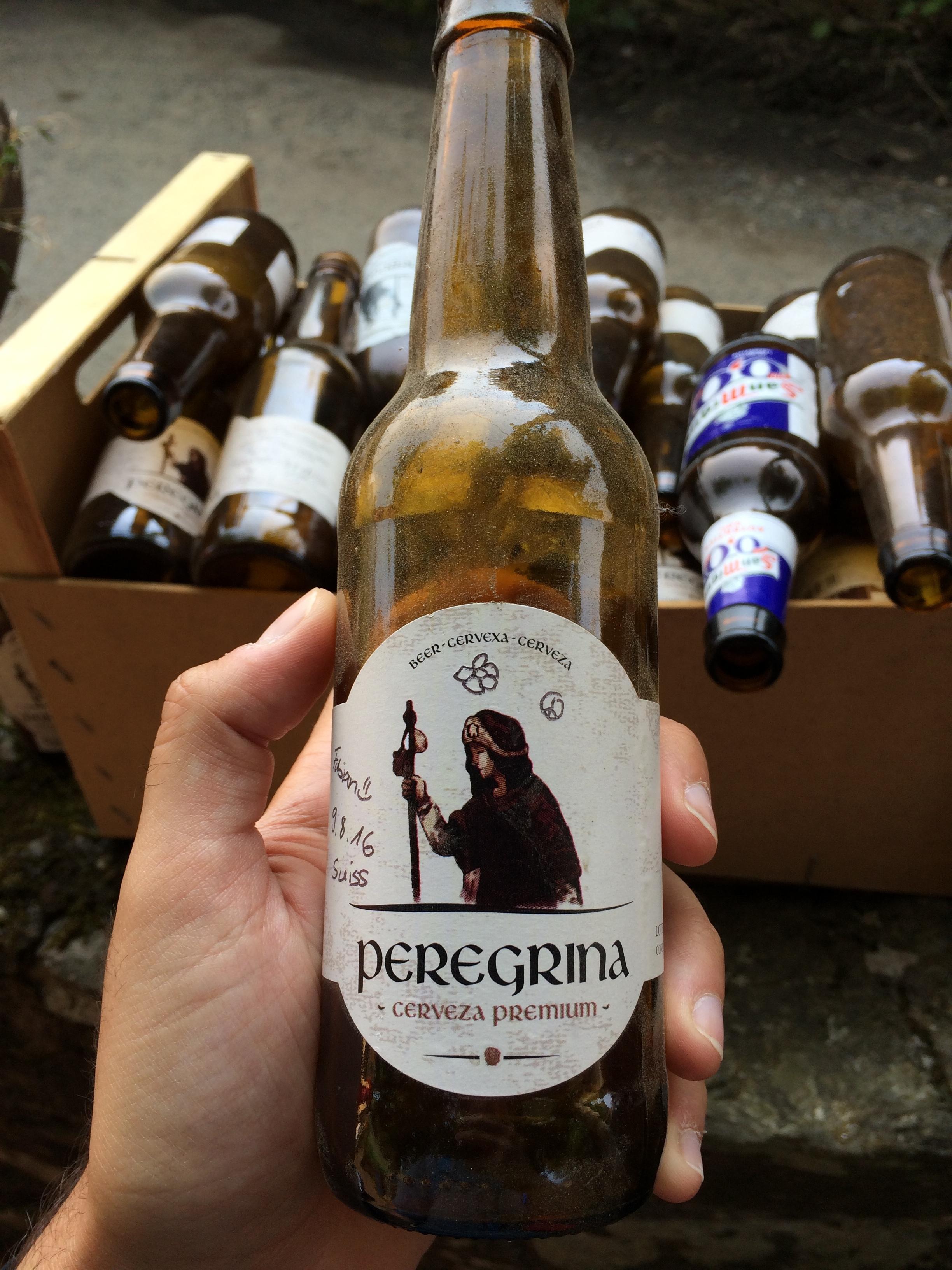 Micro brew beer off the  Camino de Santigao