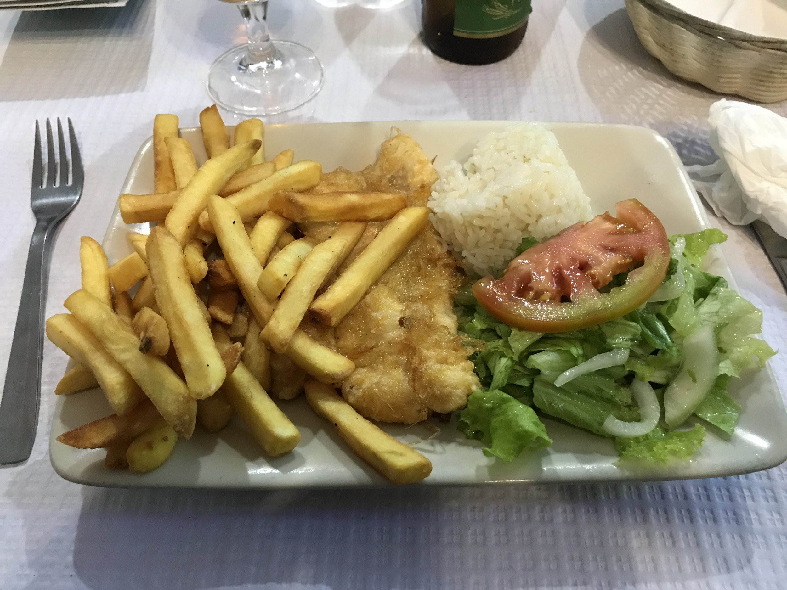 Entree for the 5 euro menu of the day meal.