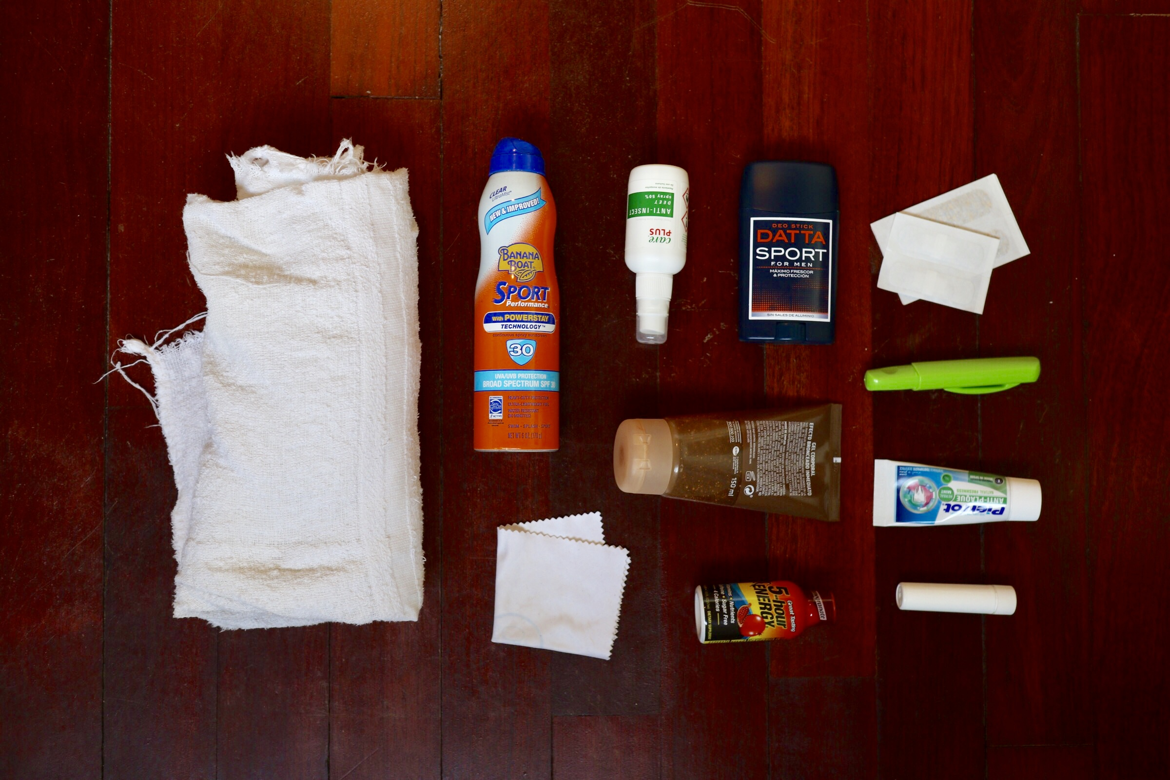 Toiletries and First Aid