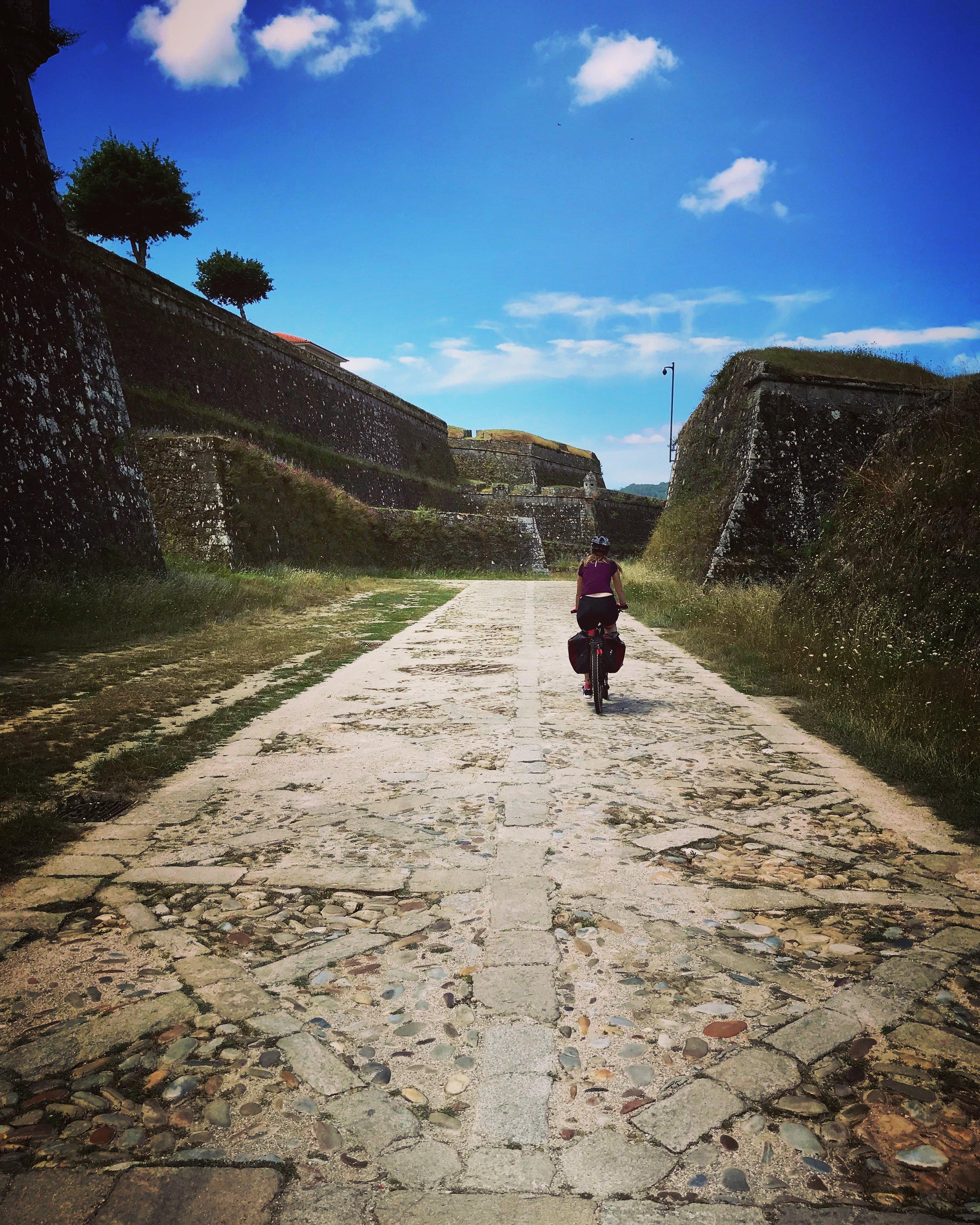 Bordering the fortress of Valença do Minho (Portugal) built between XVII - XVIII