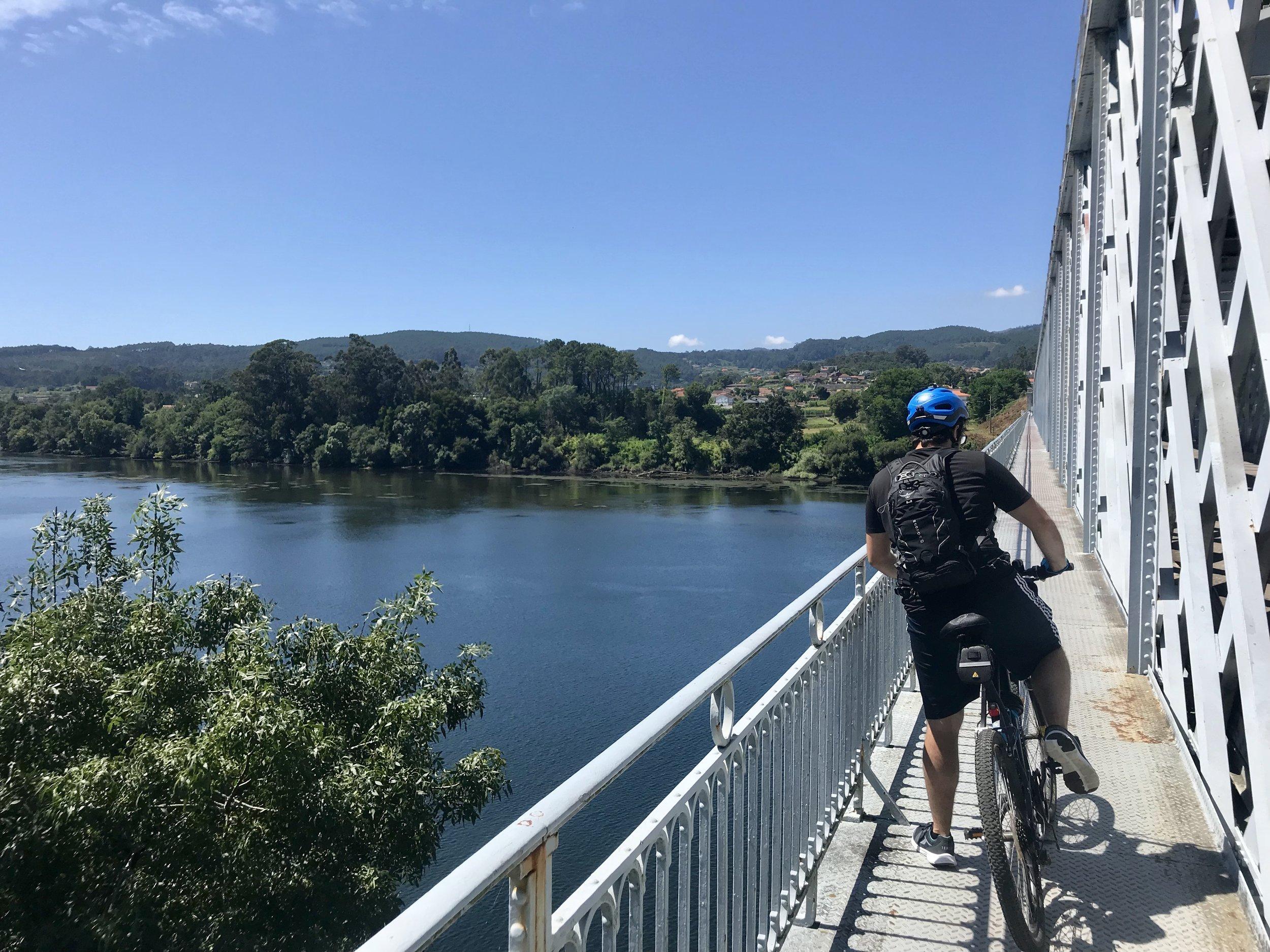 Frontier bridge between Portugal and Spain