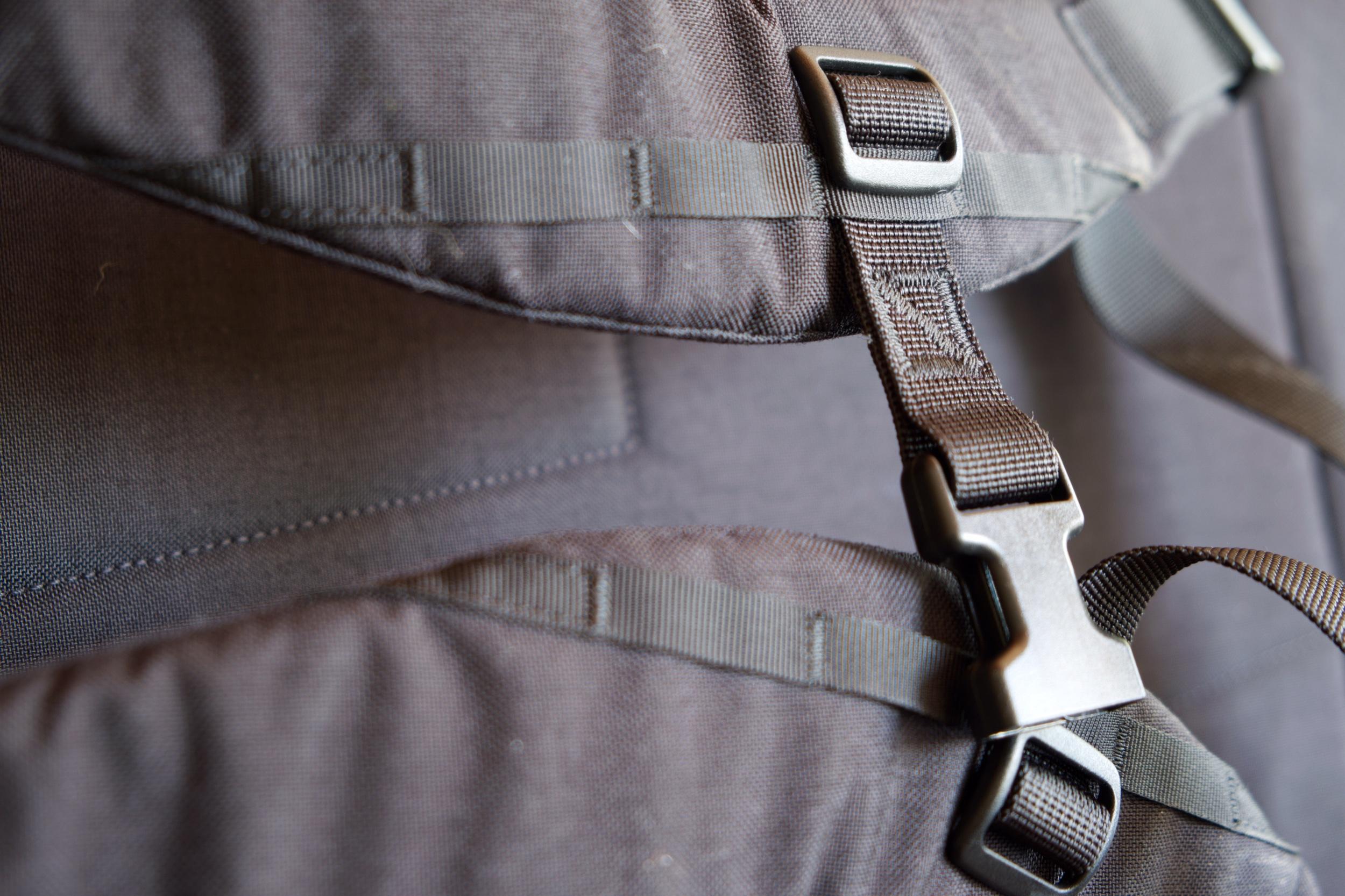 Subtle branding on the sternum strap.