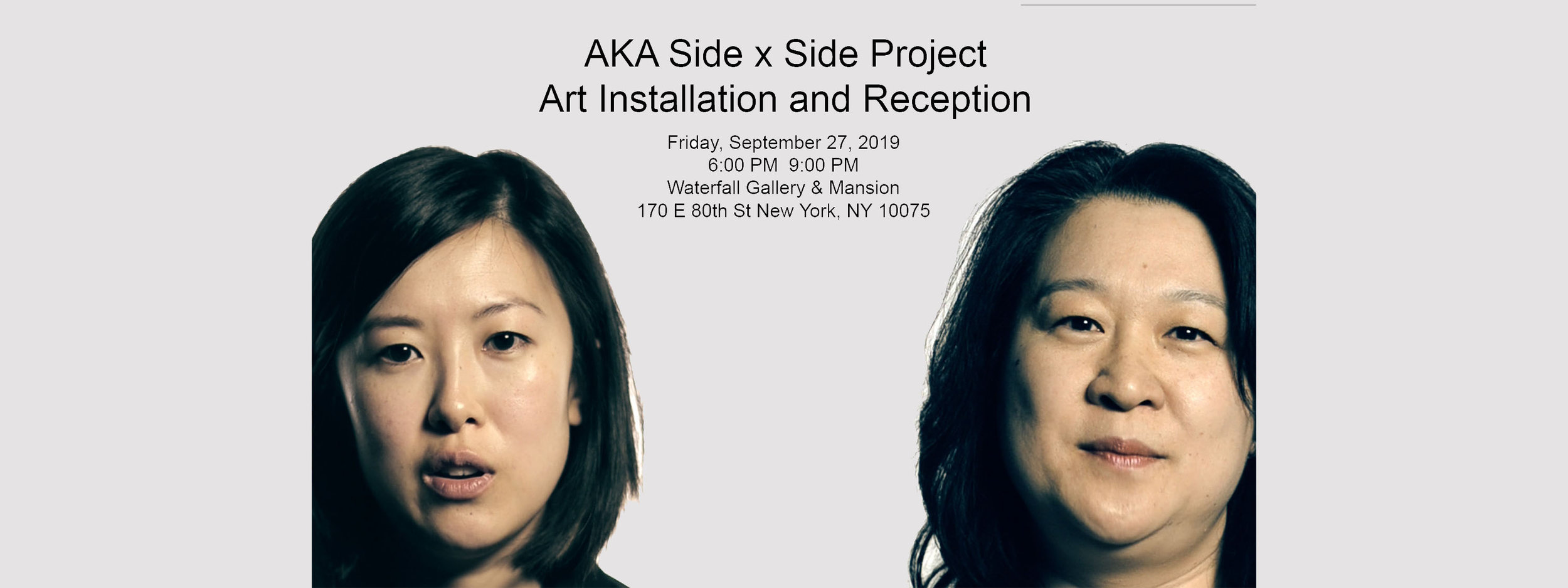 Also-Known-As Side x Side Project Art Installation and Reception