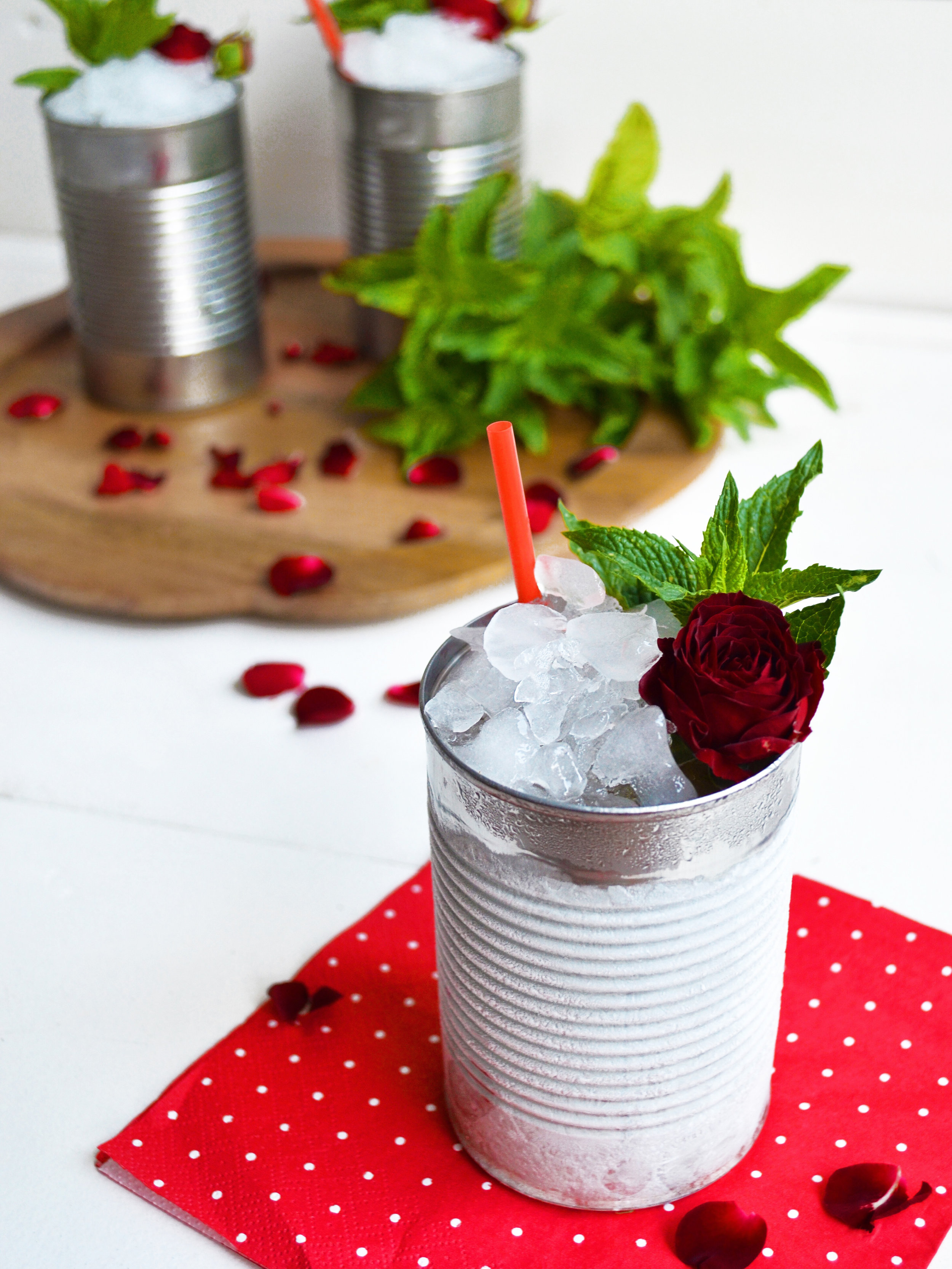 Mint Rose Petal Julep | drinkingwithchickens.com