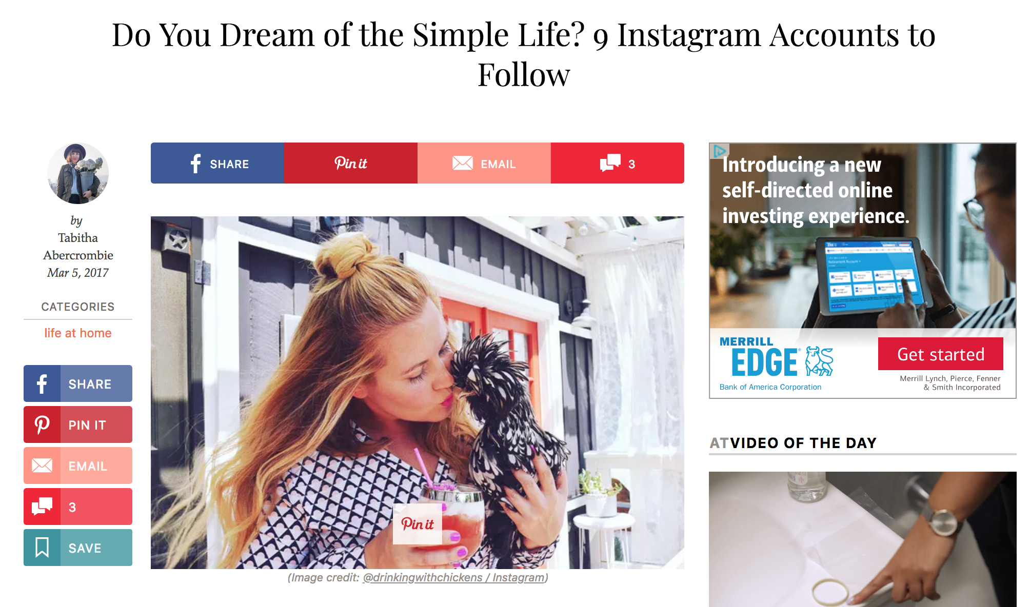 ApartmentTherapy.com Do You Dream of the Simple Like? 9 Instagram Accounts to Follow |   Click here to read...