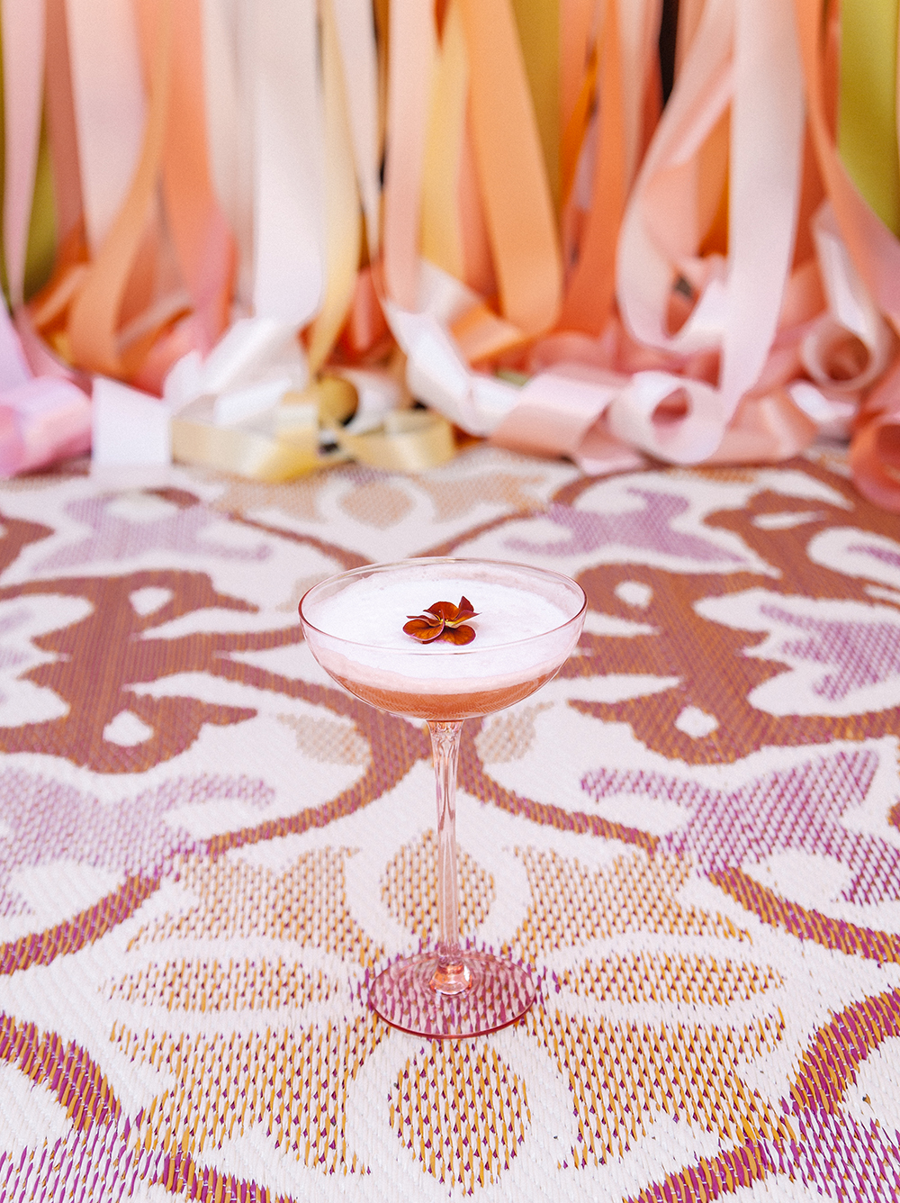 Blushing Pisco Sour | drinkingwithchickens.com