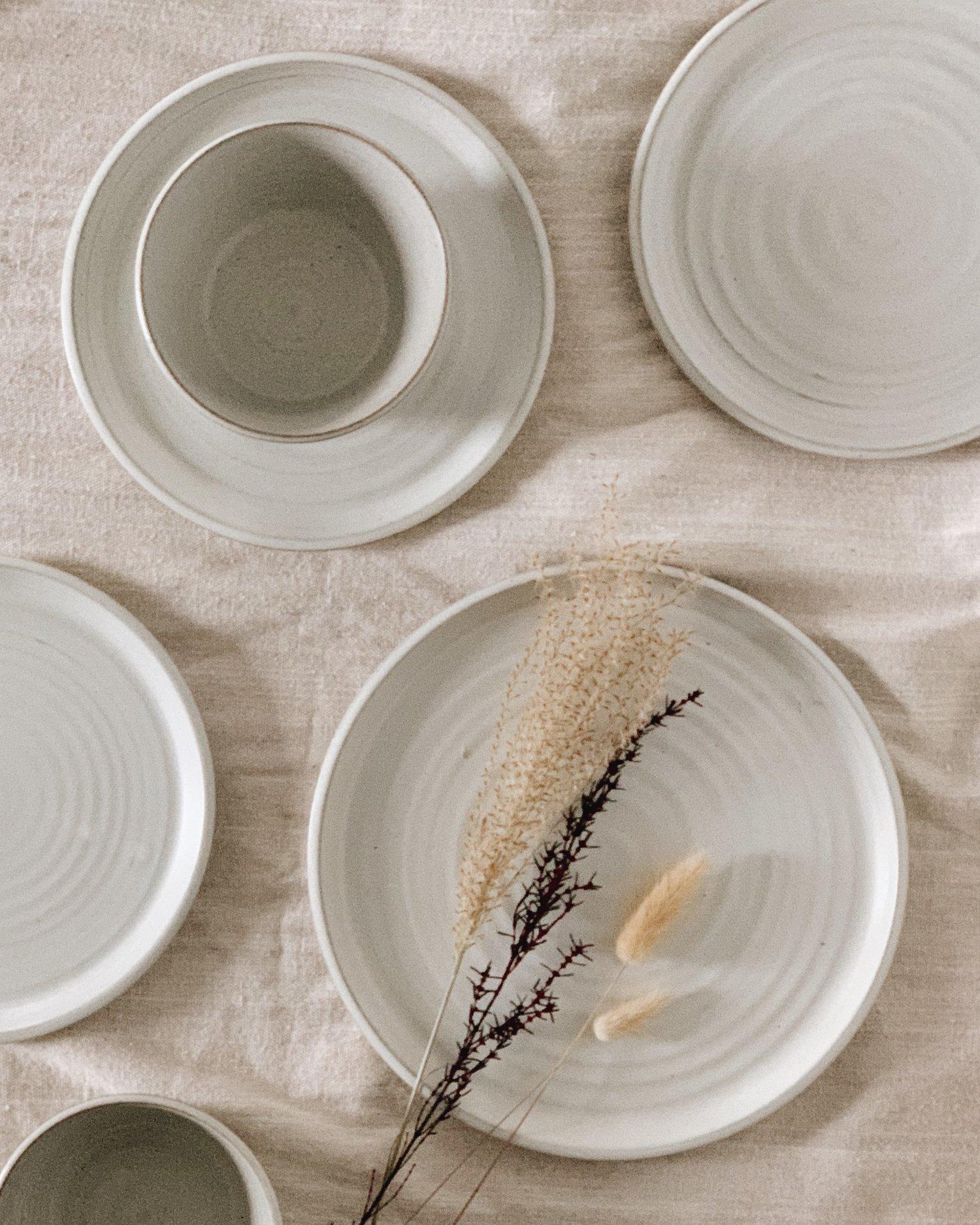 Stoneware Dinnerware Set — Made to Order — Bombabird Ceramics