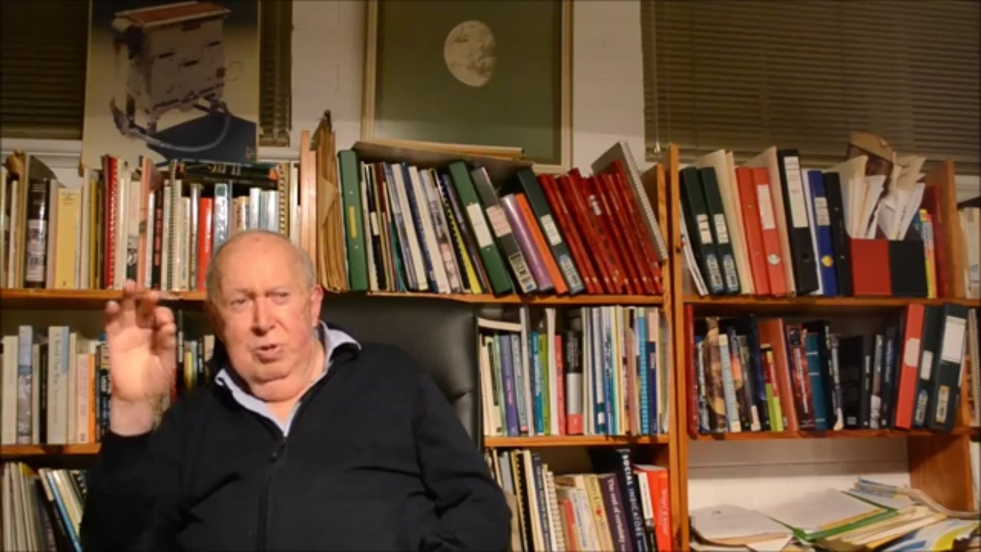 Professor Brian J. O'Brien at his home office. (Image credit: Space Hub Perth)