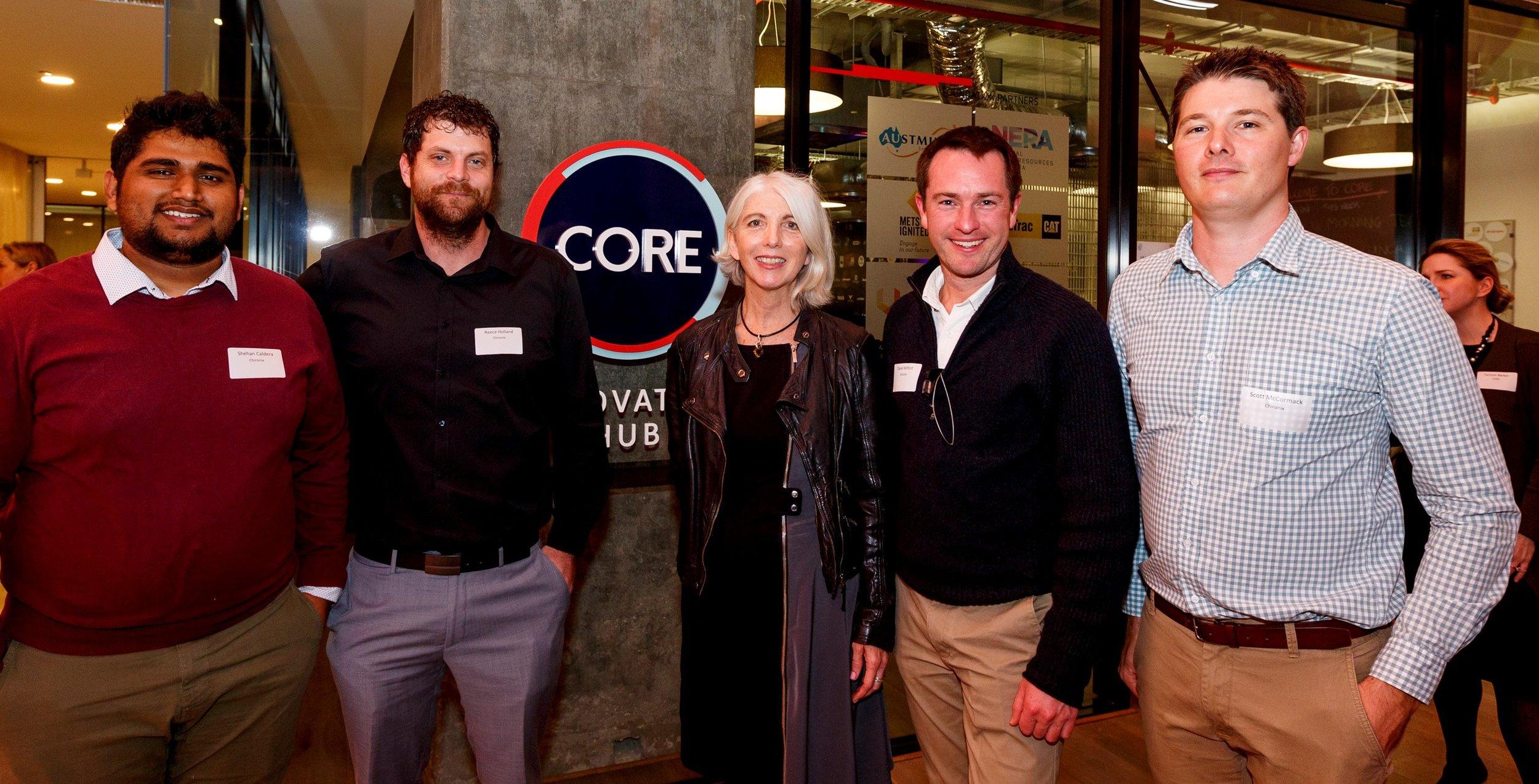 CORE Start Award round 2 recipients Chironix with NERA CEO Miranda Taylor