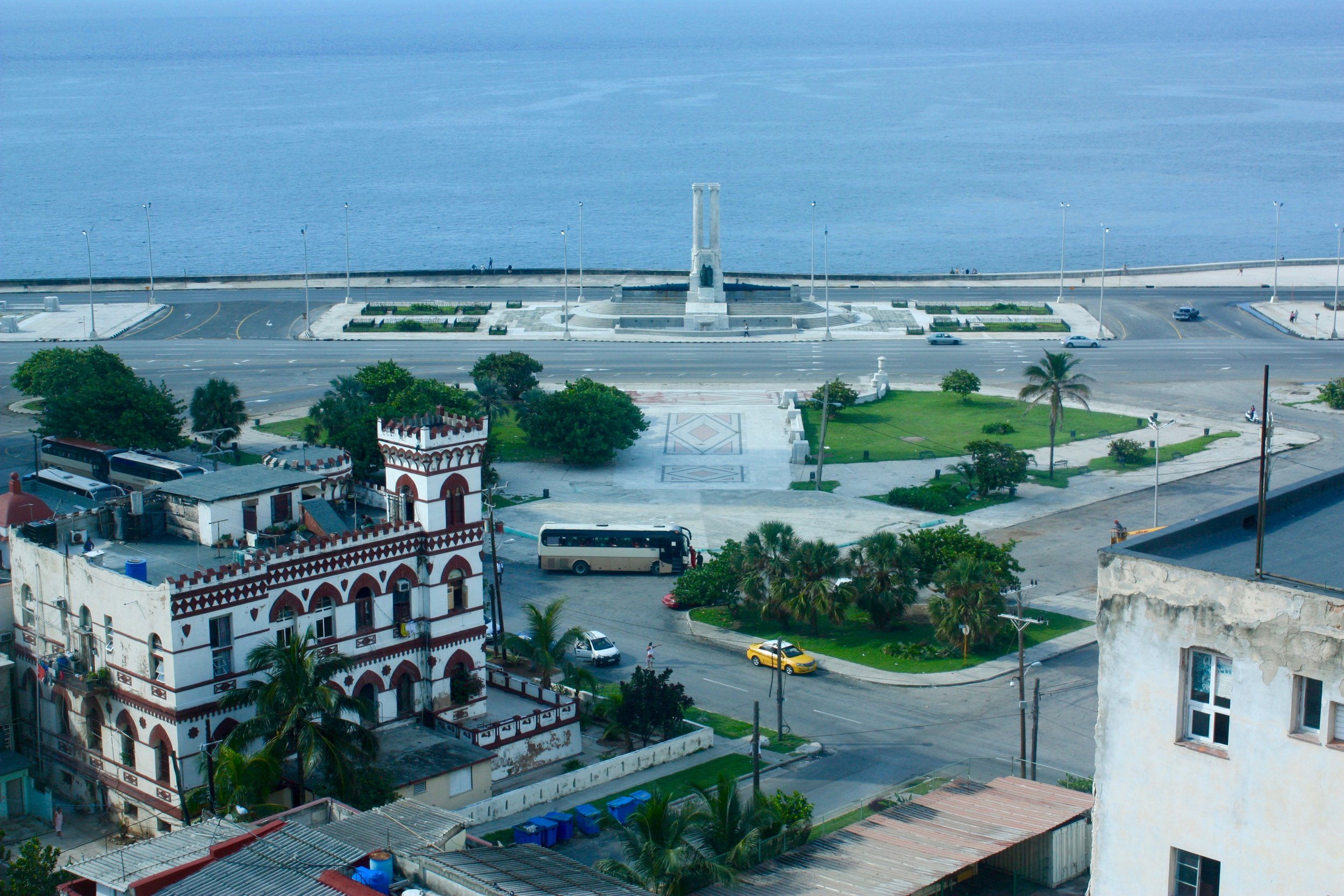 View from Hotel Capri...in the far distance you can see the malecon boardwalk