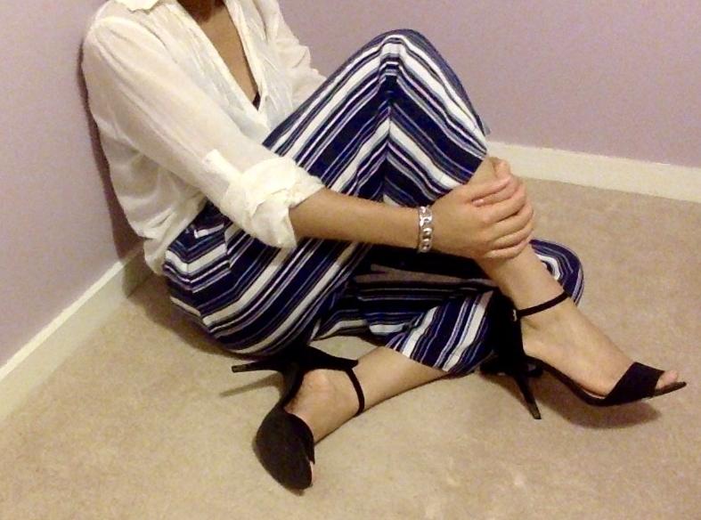 6 Self-Care Sunday Ideas     OUTFIT DETAILS: Blouse (   similar   ) /Trousers (   similar   ) / Heels (   similar   )