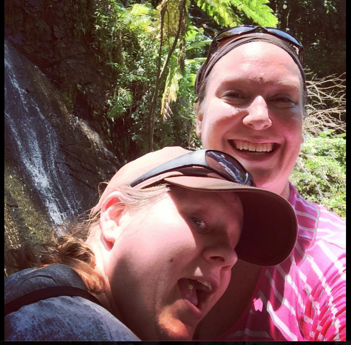M and I in El Yunque National Forest