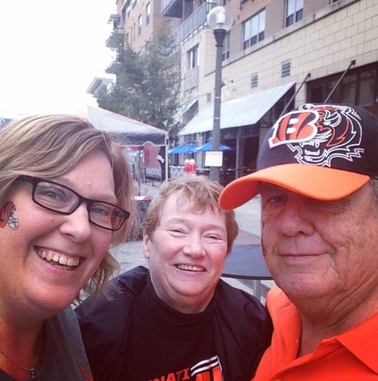 My parents and I at a Bengals game in October