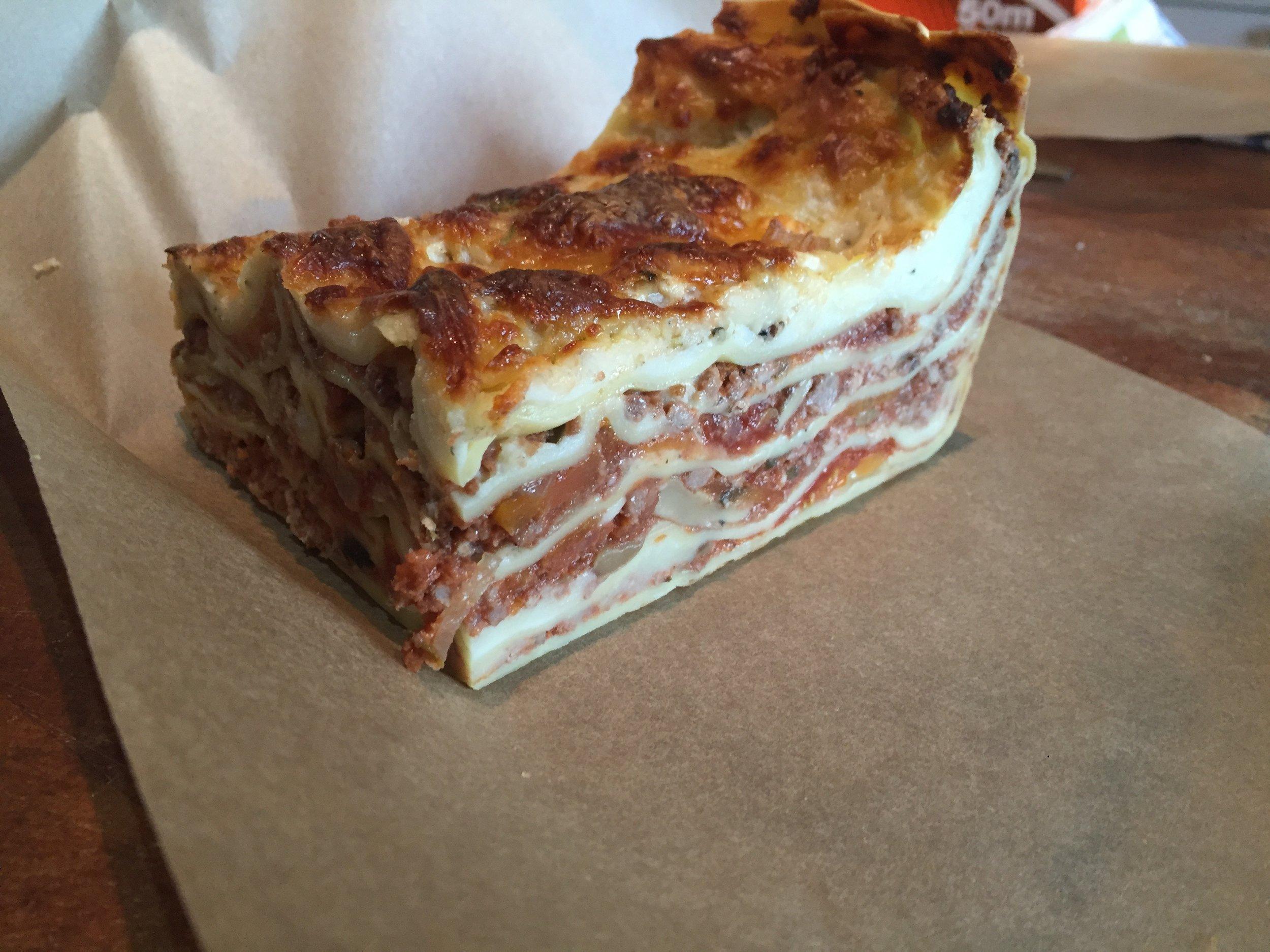 Rich classic homemade ragu lasagne