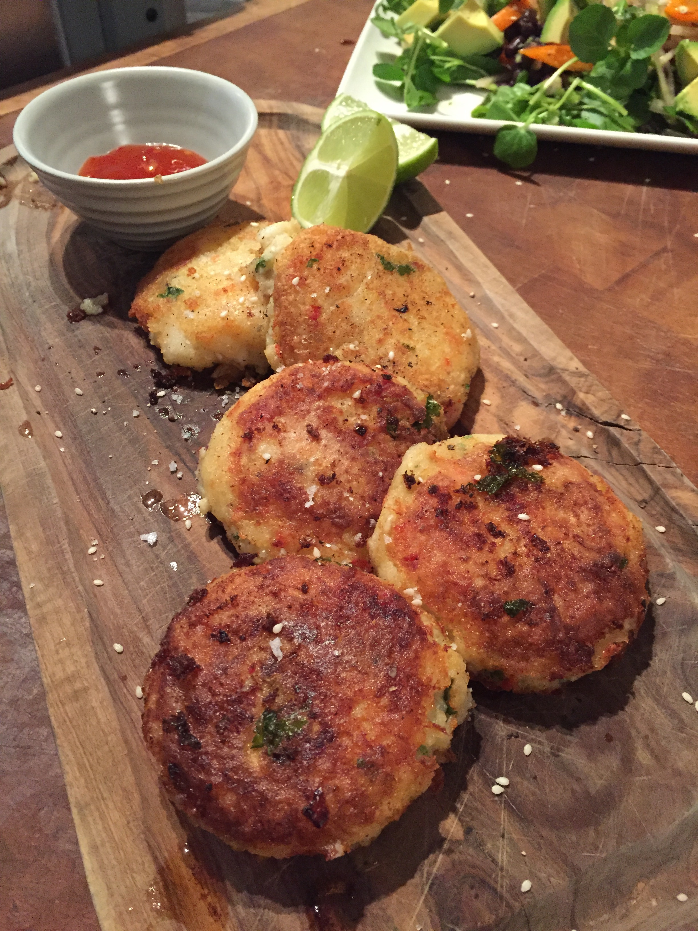 Thai fishcakes with sweet chilli