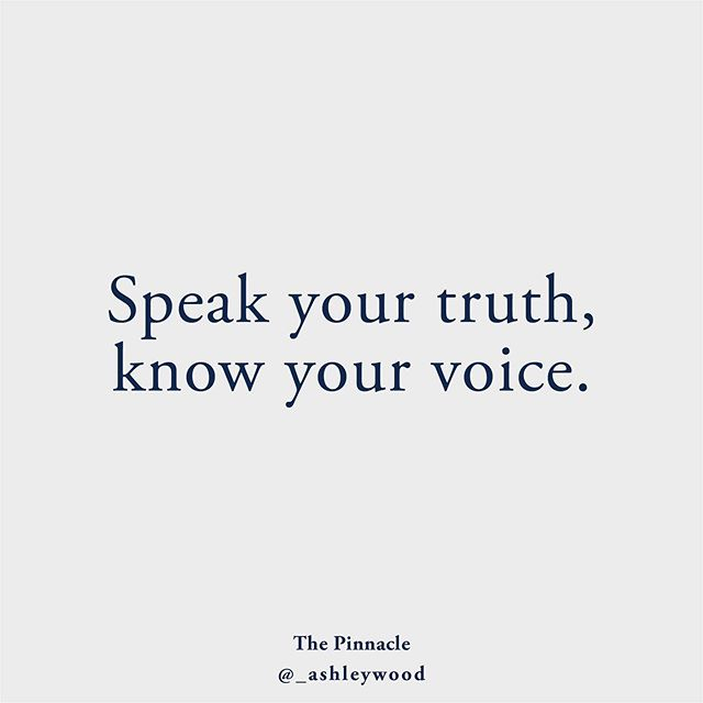 Speak your truth, know your voice. There's a difference between speaking your truth and yelling it from the roof tops (essentially), spending your energy trying to convince others to listen to you and/or believe you and knowing your voice. Knowing your voice is using your energy efficiently. Knowing the value of your energy and understanding the energetic impact behind the words you speak and how you speak them. Knowing when to speak your truth (ie: use your energy) and when to not. Speaking your truth while knowing your voice is done so with grace, assertiveness and awareness of your own energy first. #akashicrecords #akashicashley