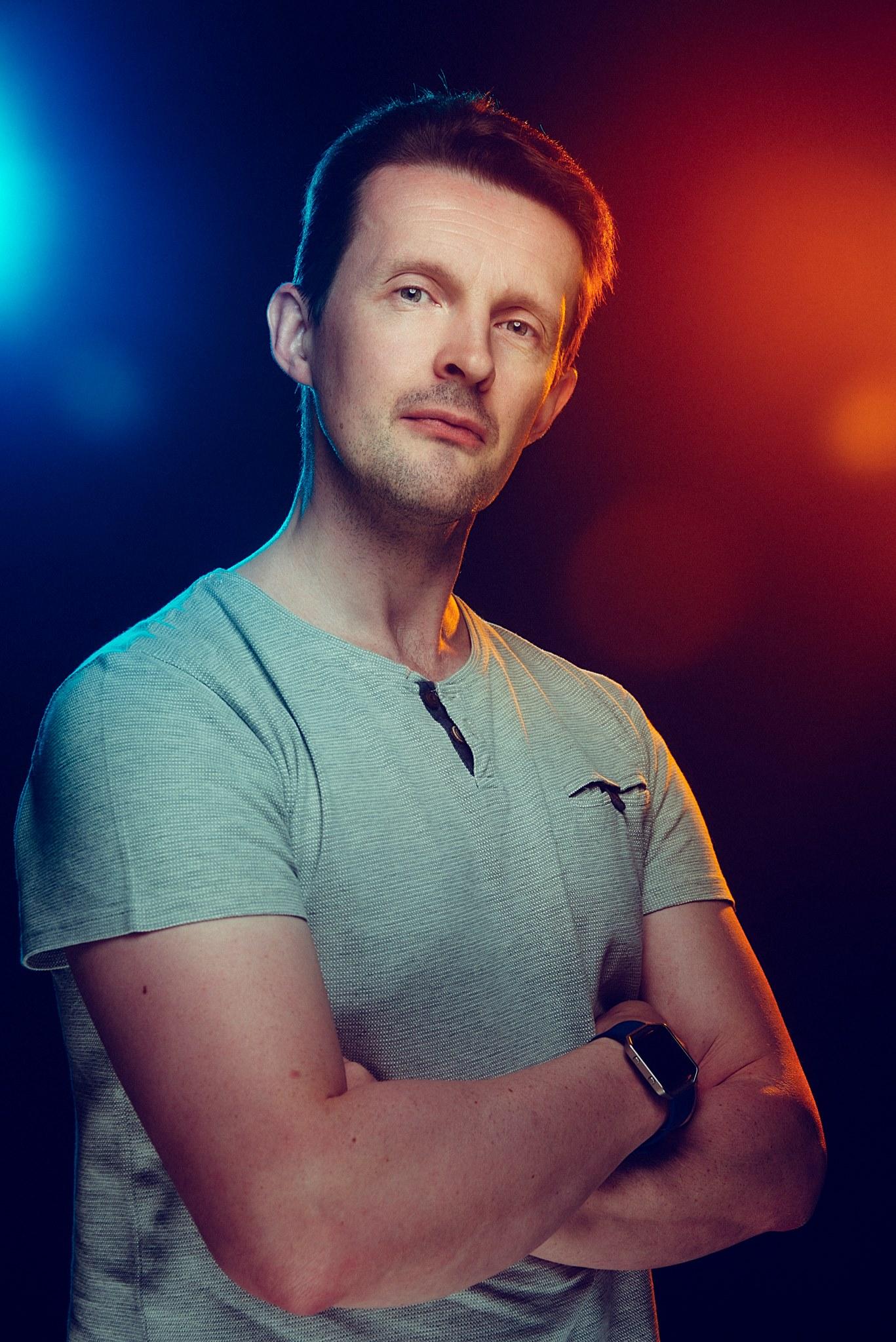 Portrait taken by Jake Hicks, master of gel photography.   http://jakehicksphotography.com