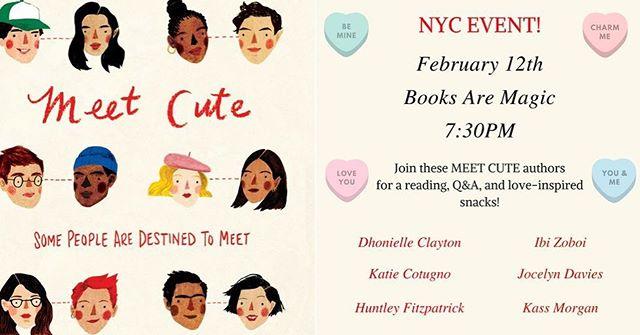 Be my valentine, NYC!  This Monday 7:30 @booksaremagicbk 💕✨💕✨ #meetcute #valentinesday #galentinesday #yalit #yabooks #shortstories #lovestories #ireadya #booklove #bookworm #booknerdigans #booksofinstagram #writersofinstagram #writersofig #bookstagram #yabooks #yabookstagram #booksaremagic #bookevent #reading