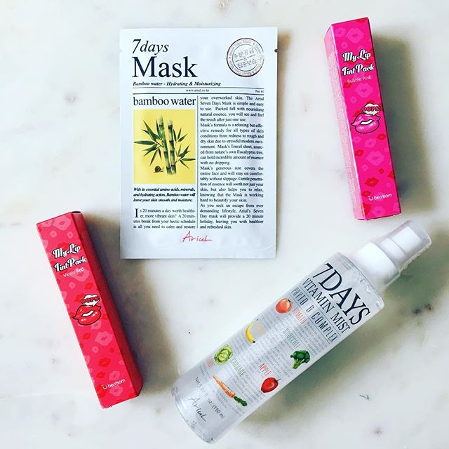 Dispatch from the utopia of K-beauty that is CVS. Ready to put on my fave sweats and mask. It. Up. (Ps why yes that is peel-off lip tint.) #selfcaresunday #kbeauty