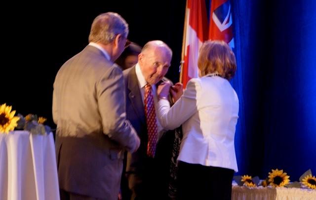 Recieving the June Callwood Award for outstanding volunteering in 2013.jpg