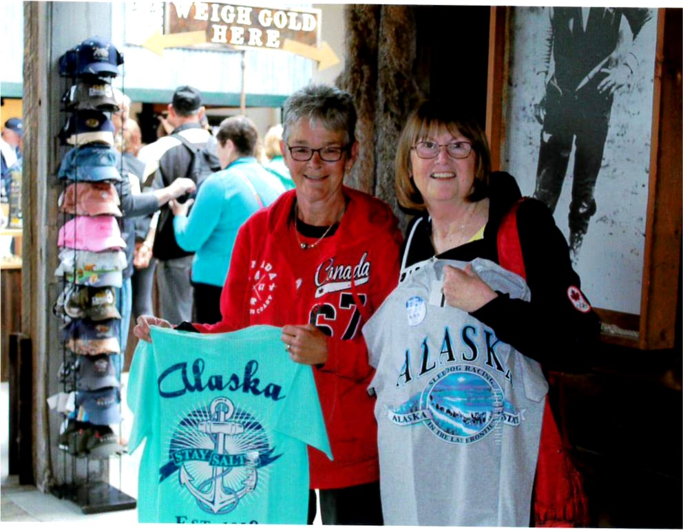 Meeting in Alaska! - Sheena and Ellen in a gift shop in Alaska at the same time! Our volunteers team up everywhere.