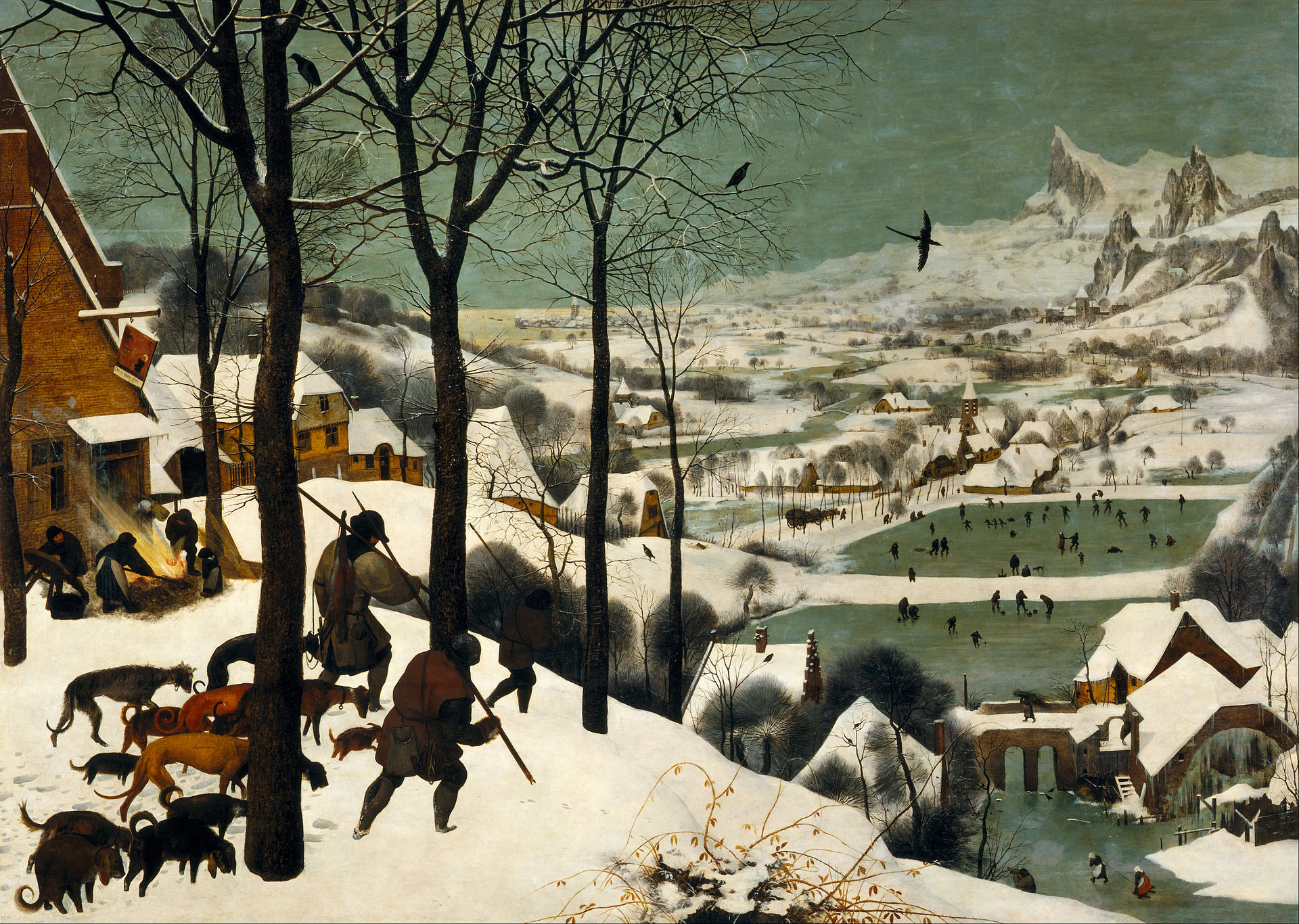 Pieter Bruegel the Elder: Hunters in the Snow, circa 1564