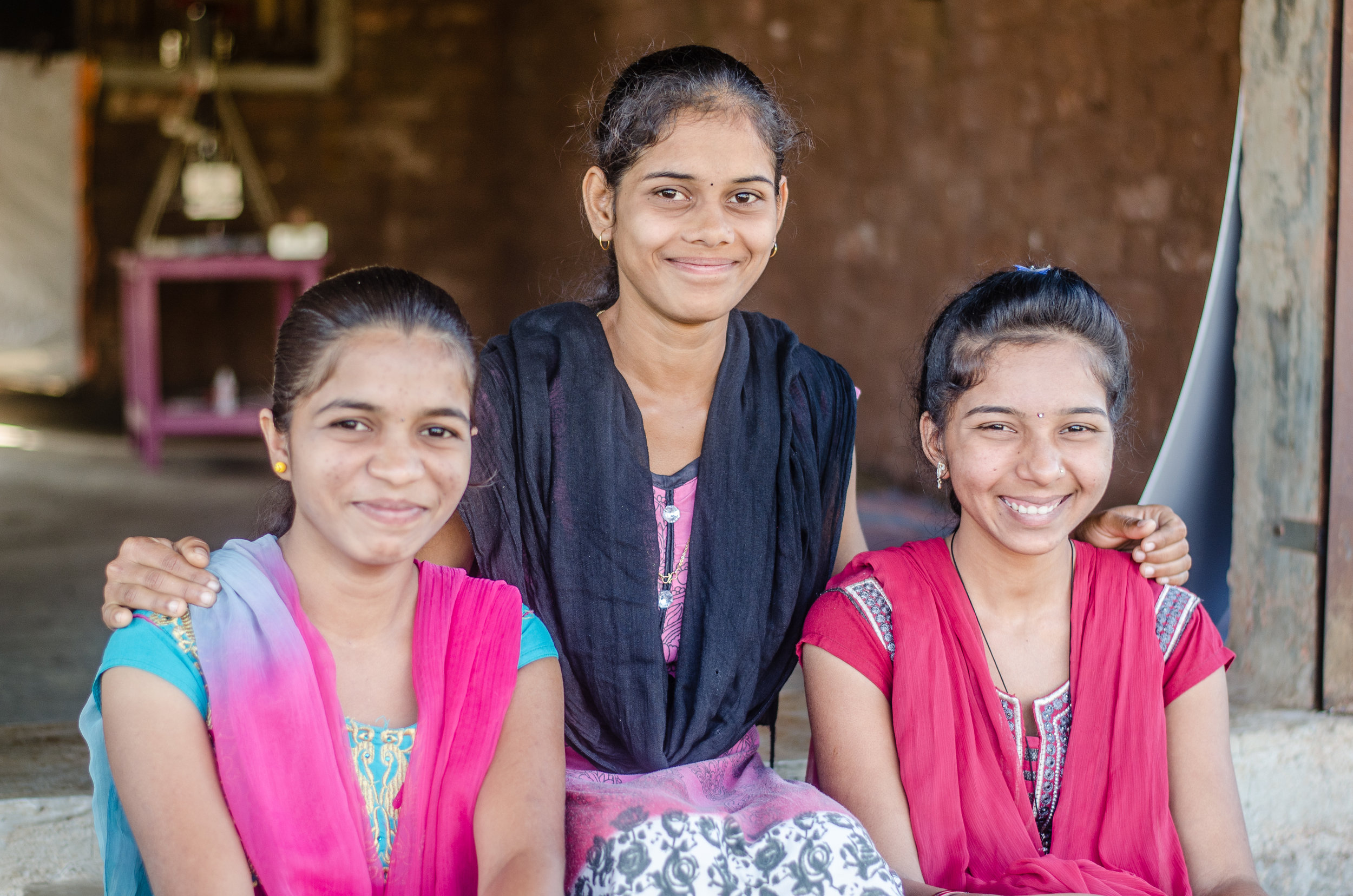 Left to right: Priyanka, Momta and Ranjana. Photo credit: Karan Khosla.